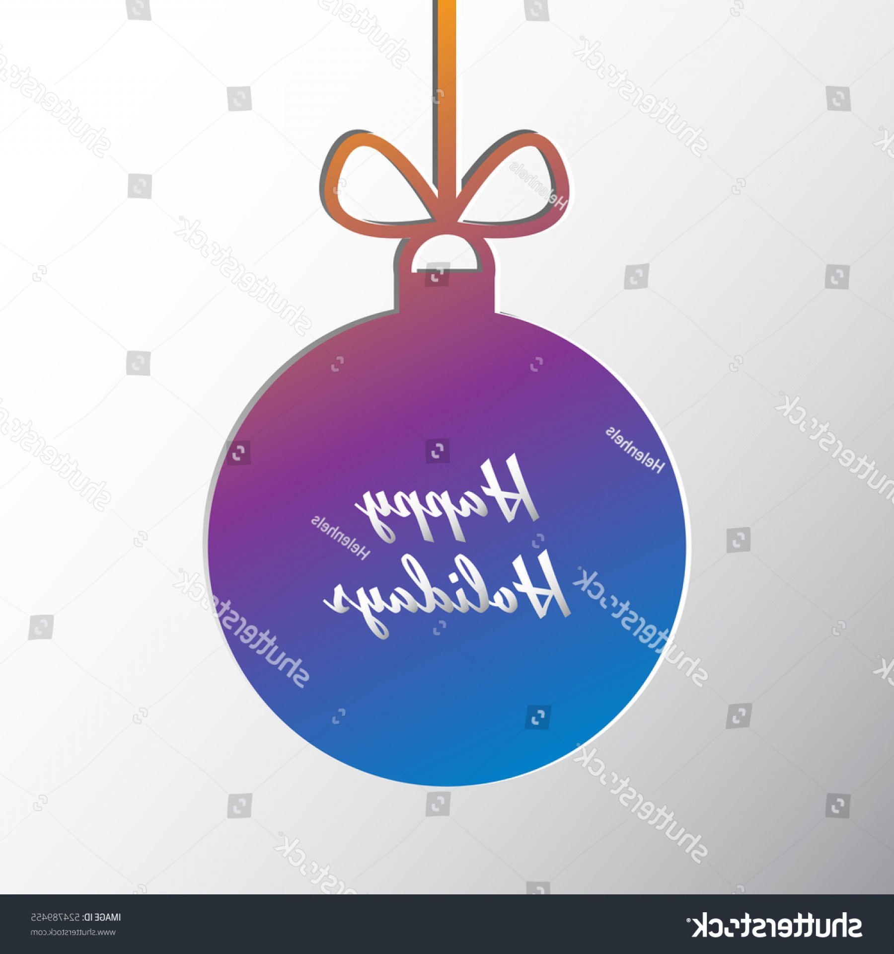 Vector Silhouette Happy Holidays: Silhouette Christmas Ball Happy Holidays Words