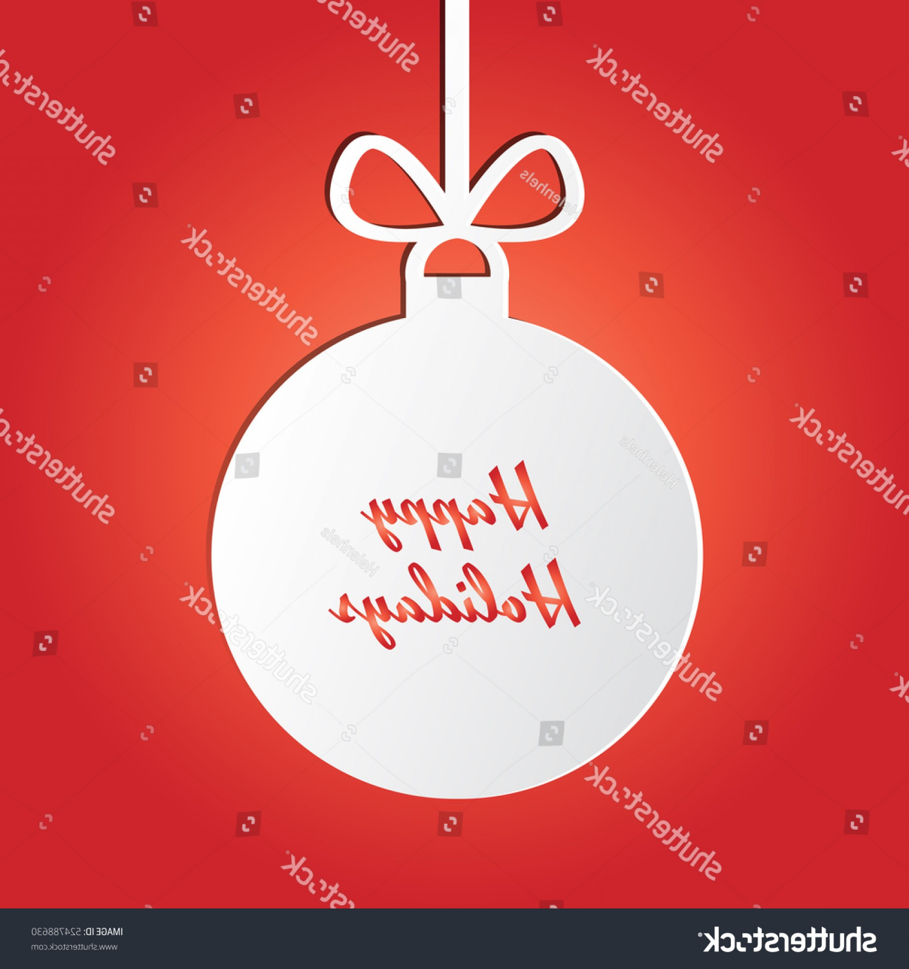 Vector Silhouette Happy Holidays: Silhouette Christmas Ball Happy Holidays