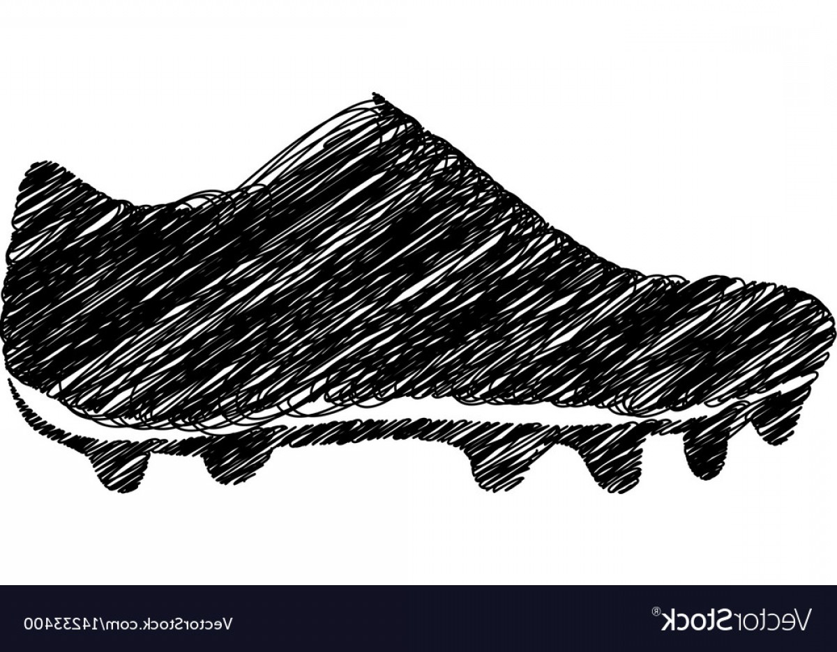 Sneaker Silhouette Vector: Silhouette Drawing Sneakers Sport Shoes Vector