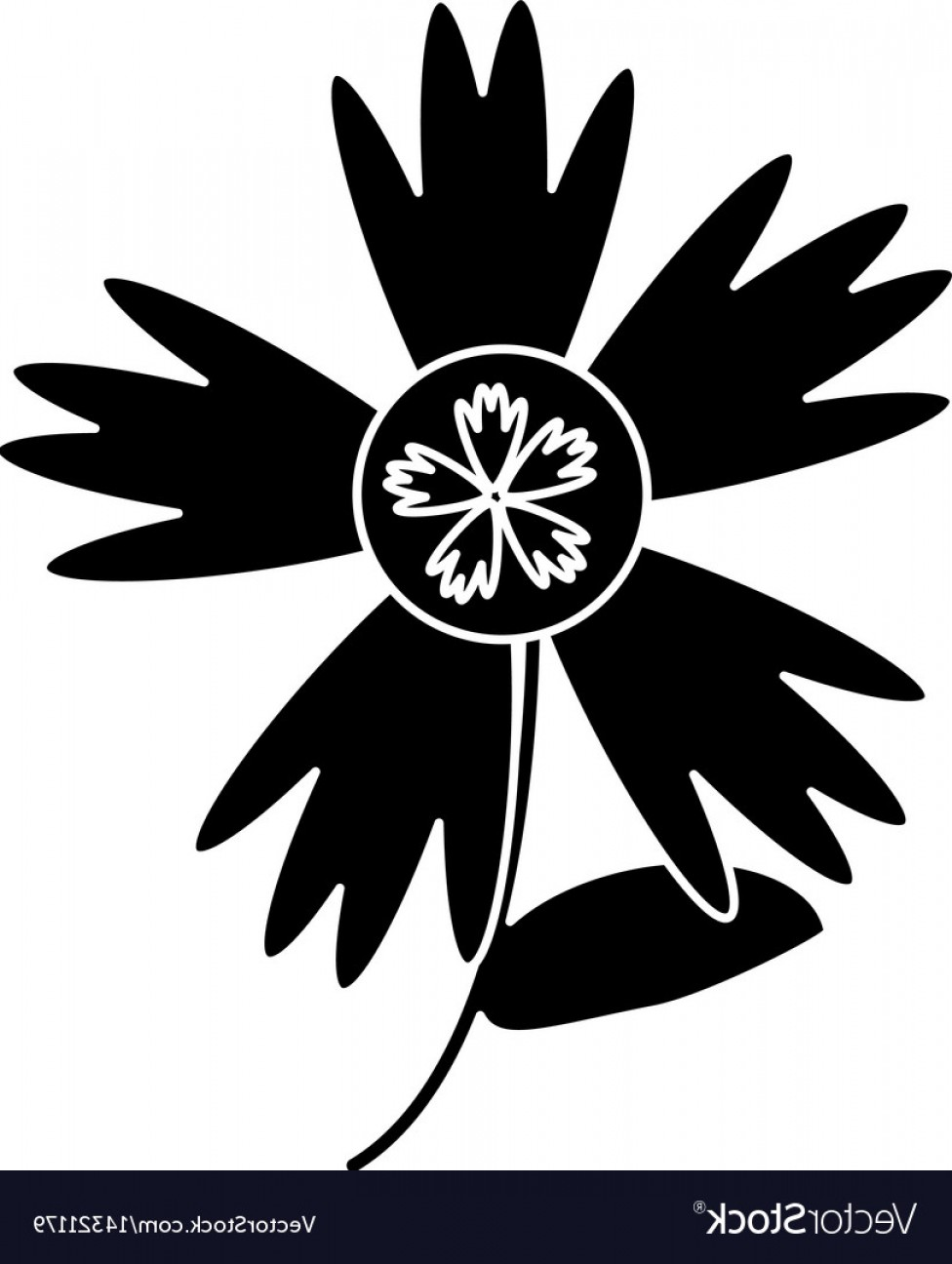 Spring Vector Silhouette: Silhouette Flower Decoration Spring Vector