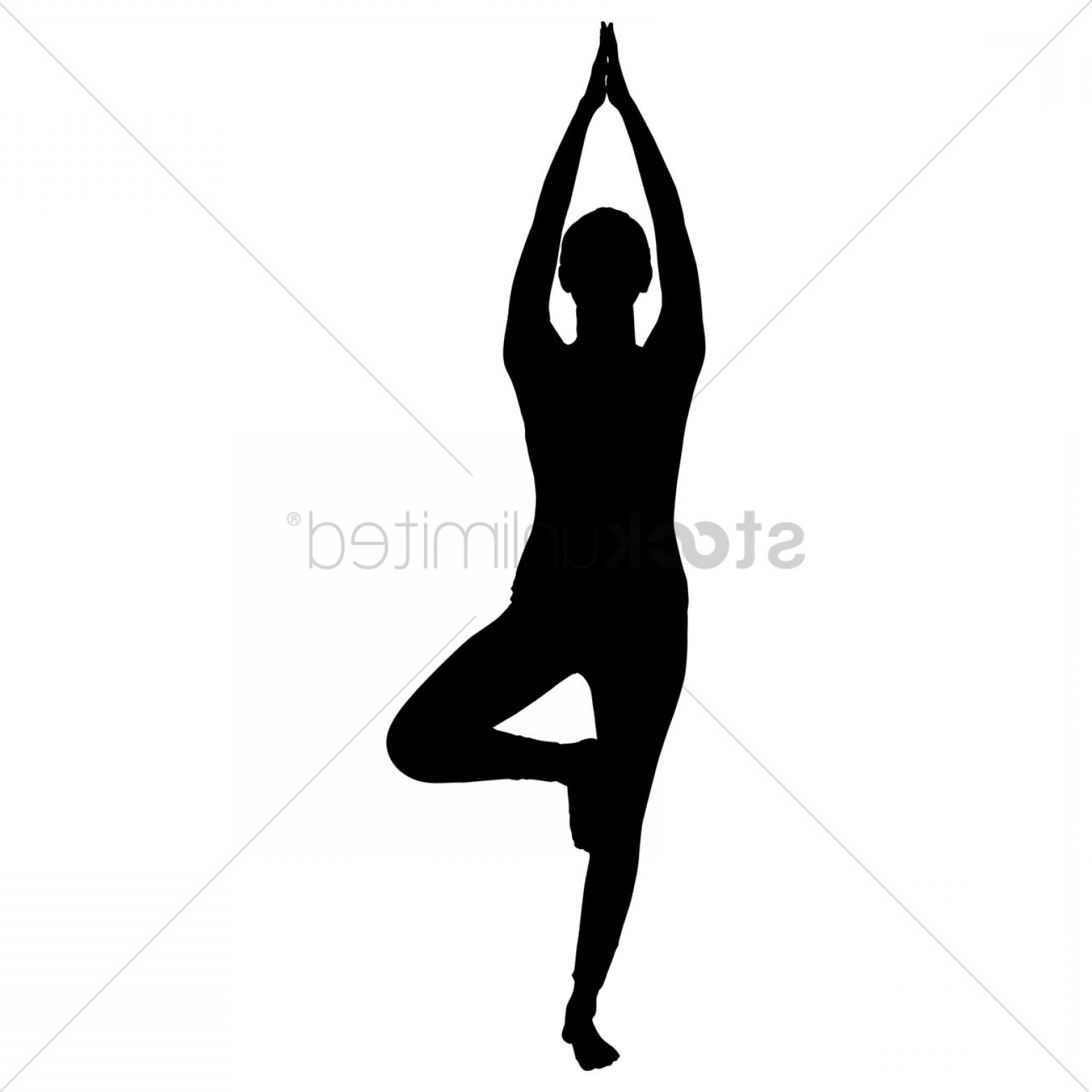 Yoga Vector Silhouette SVG: Silhouette Of A Woman Practicing Yoga