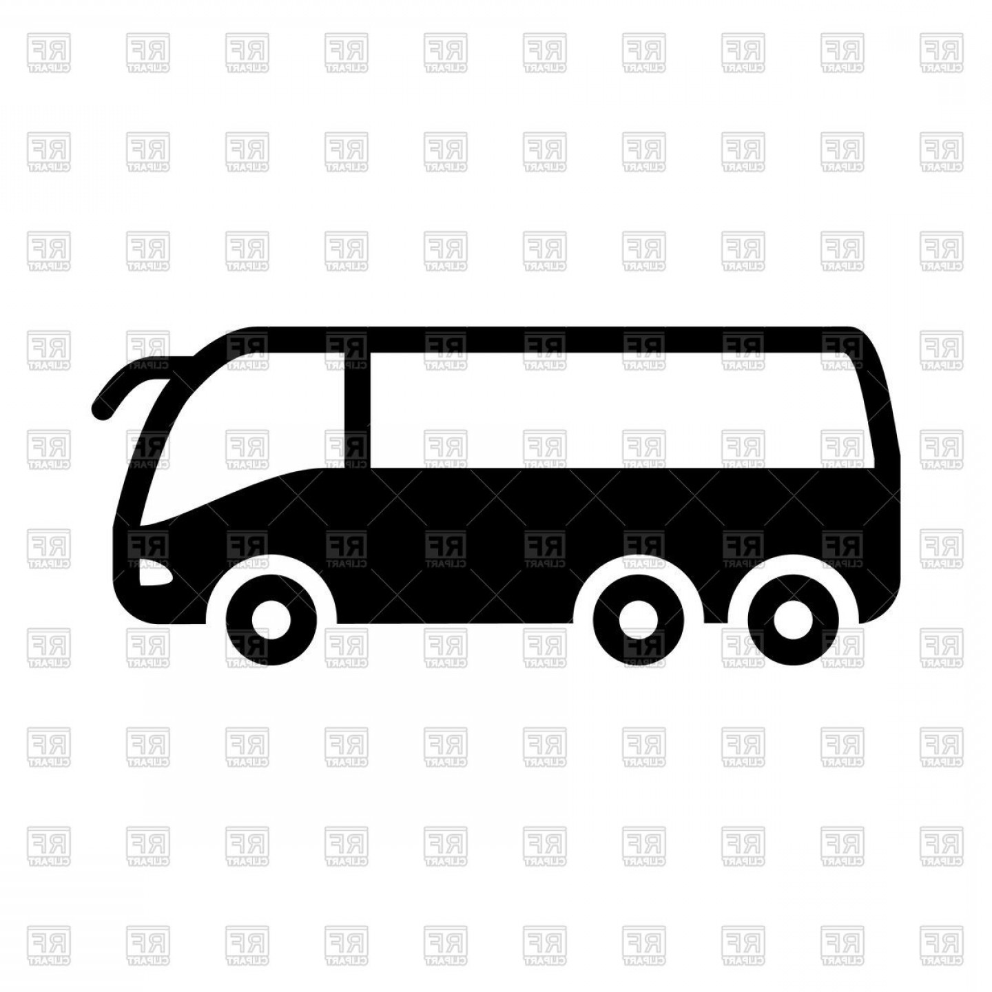 Pic Bus Vector Format: Silhouette Of Bus Vector Clipart