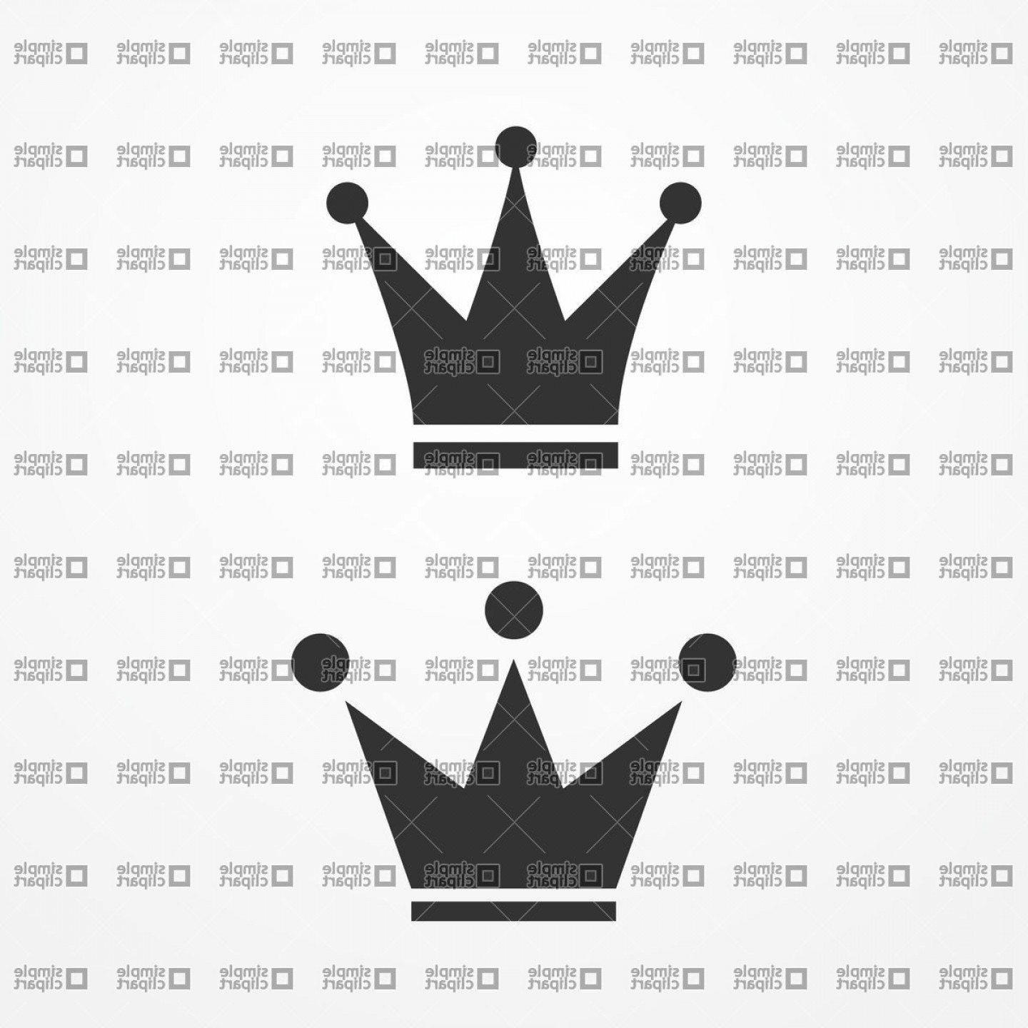 Crown Vector Clip Art: Silhouette Of Kings Crown Vector Clipart