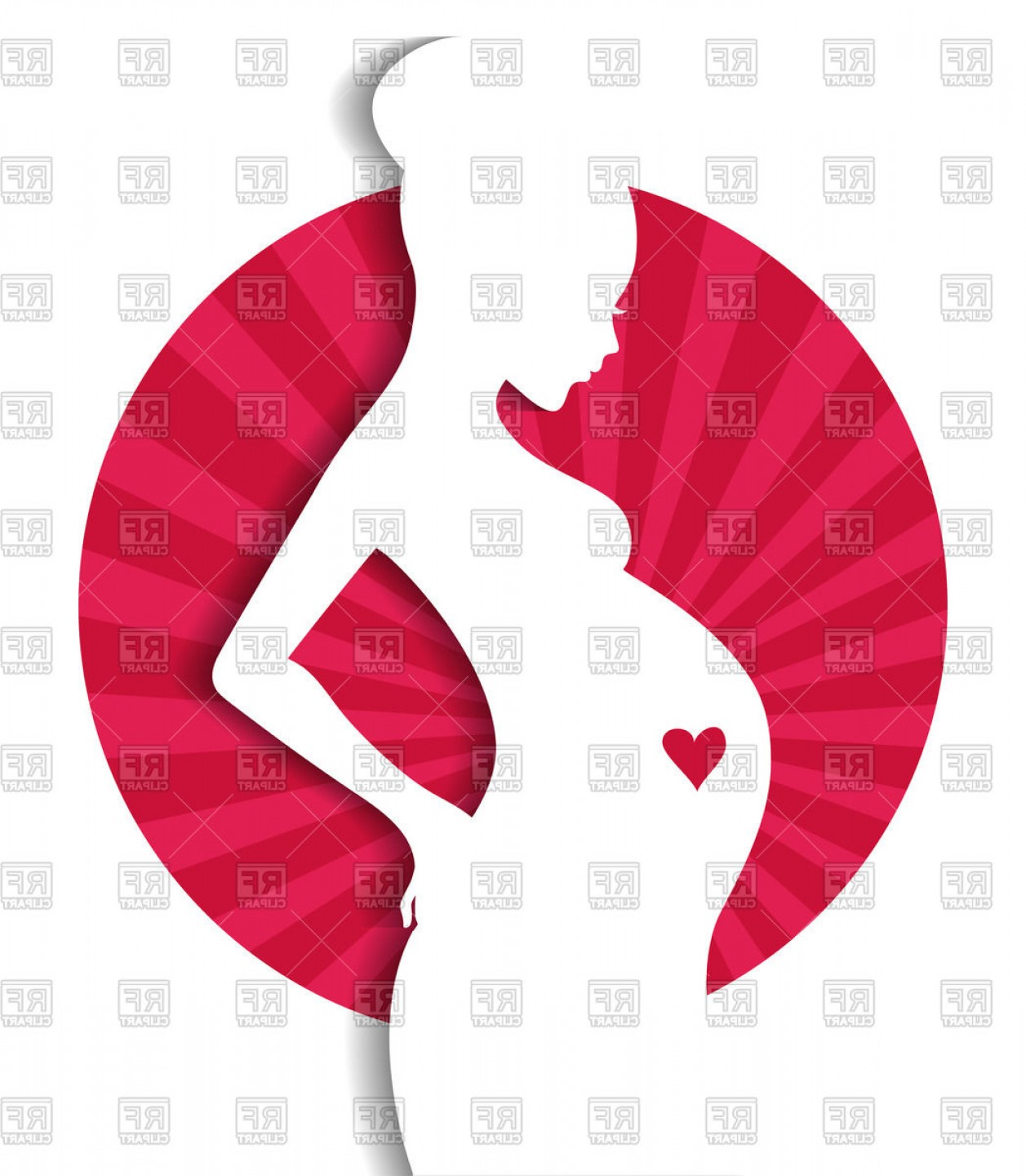 Pregnant Vector Art: Silhouette Of Pregnant Woman Vector Clipart