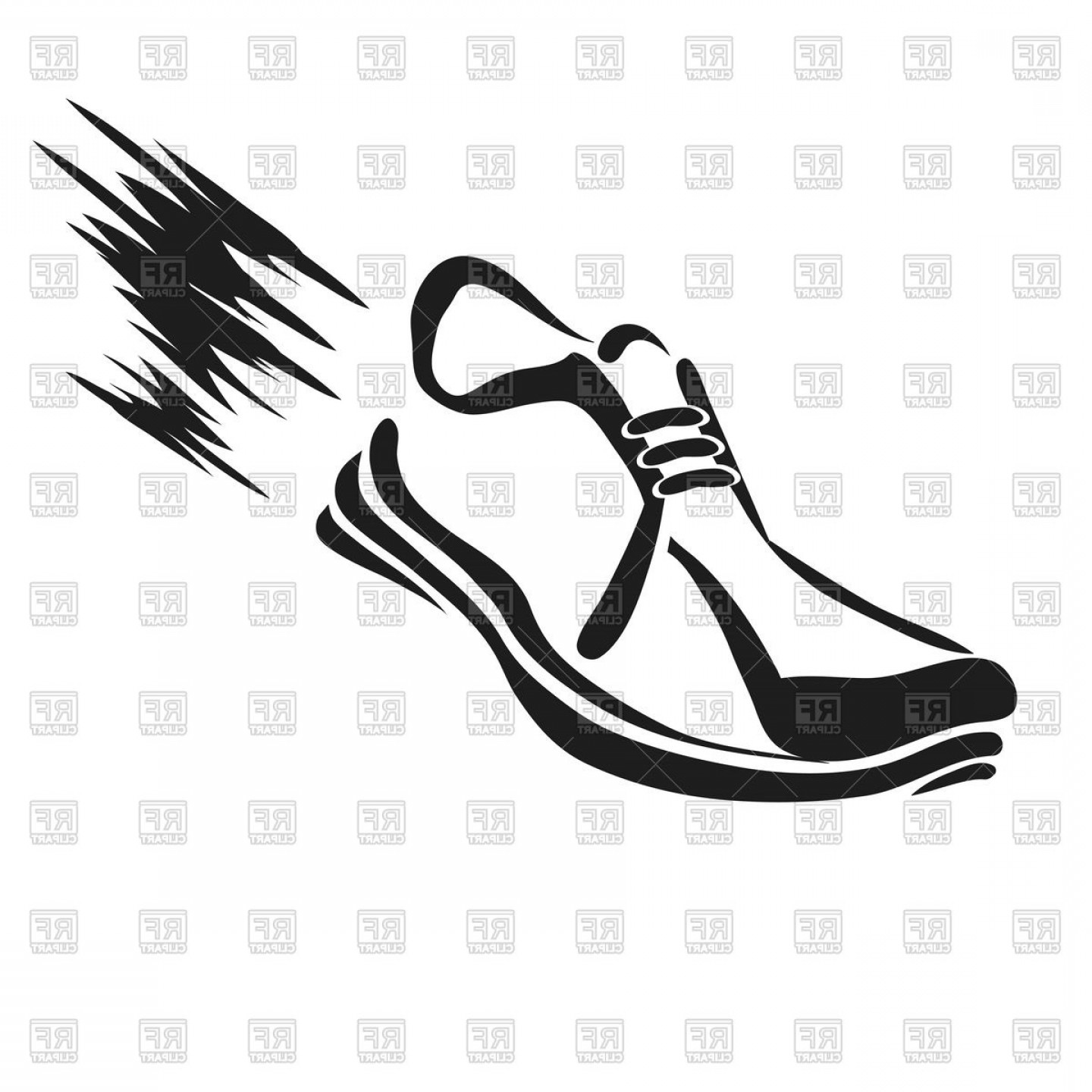 Sneaker Silhouette Vector: Silhouette Of Running Shoe Vector Clipart