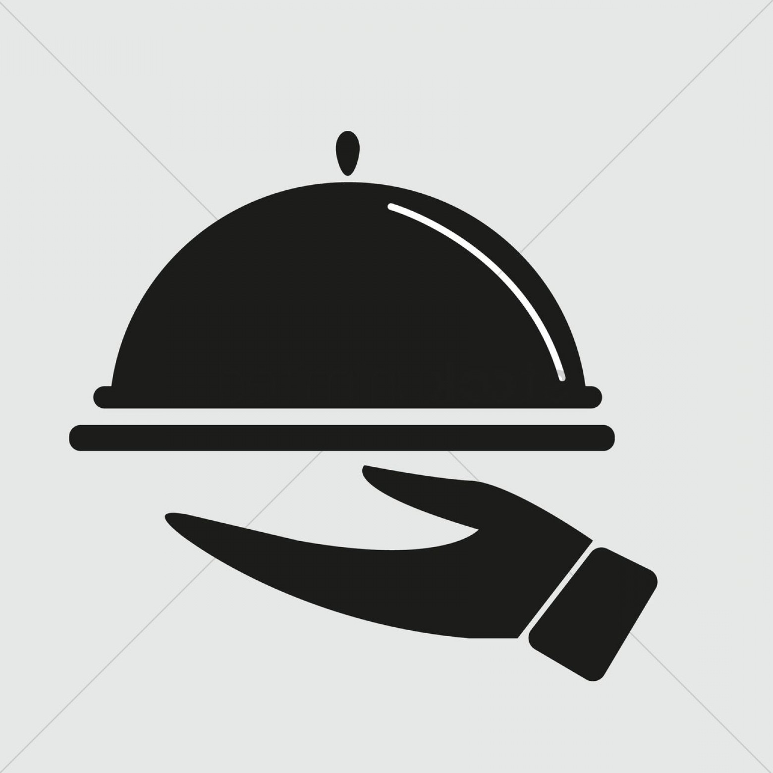 Serving Vector: Silhouette Of Serving Dish In Hand