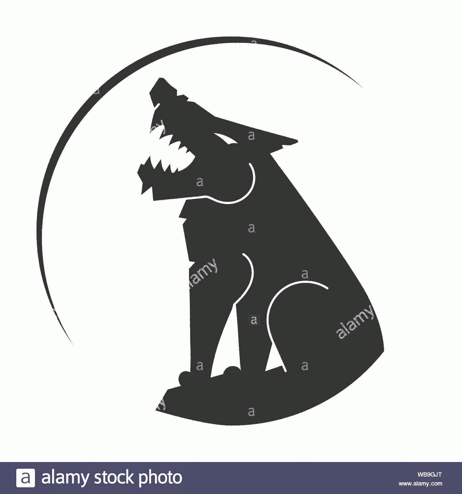 Wolf Vector Logo: Silhouette Of The Wolf Vector Logo Design Template Vector Illustration For T Shirts Flyers Textiles Image