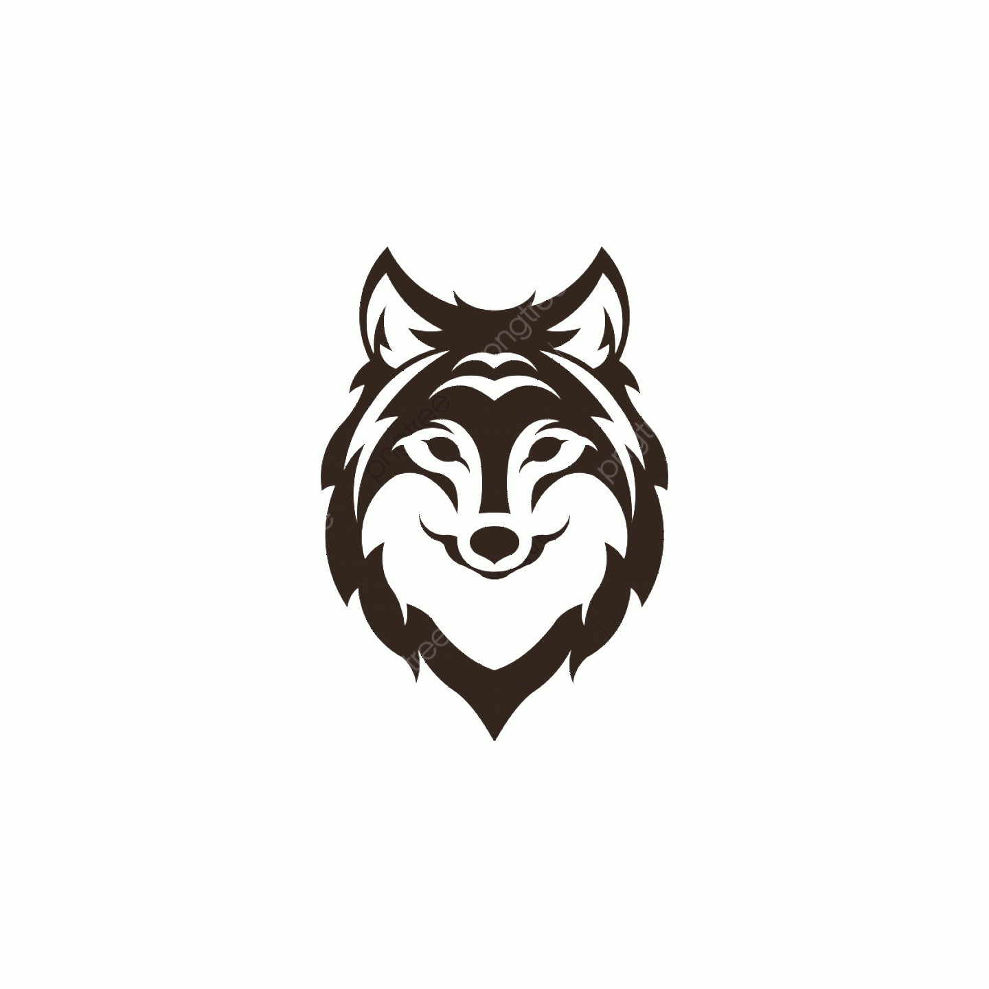 Angry Dog Vector Black And White: Silhouette Of The Wolf Vector Logo Wildlife Wild Wolf Vector Illustration Brush Effect