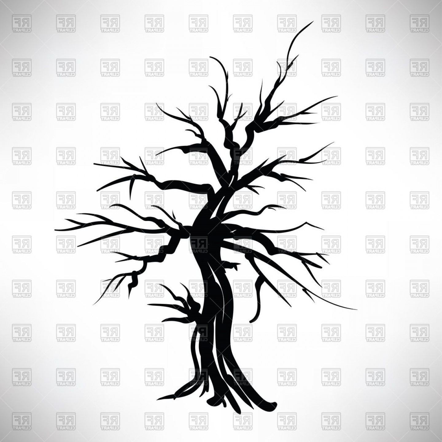 Tree Trunk Silhouette Vector: Silhouette Of Tree Vector Clipart