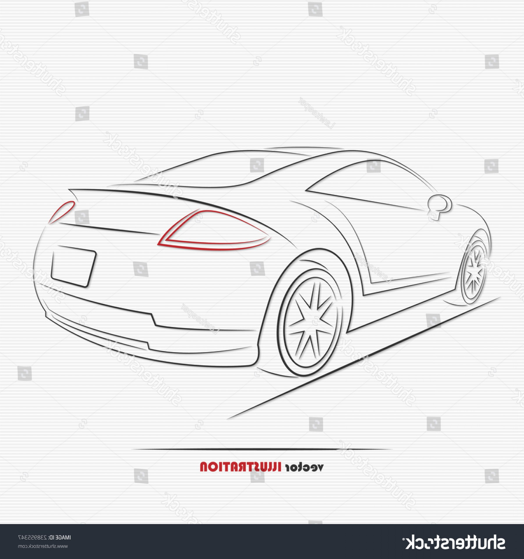 Mitsubishi Eclipse Vector: Silhouette Sport Car Your Design