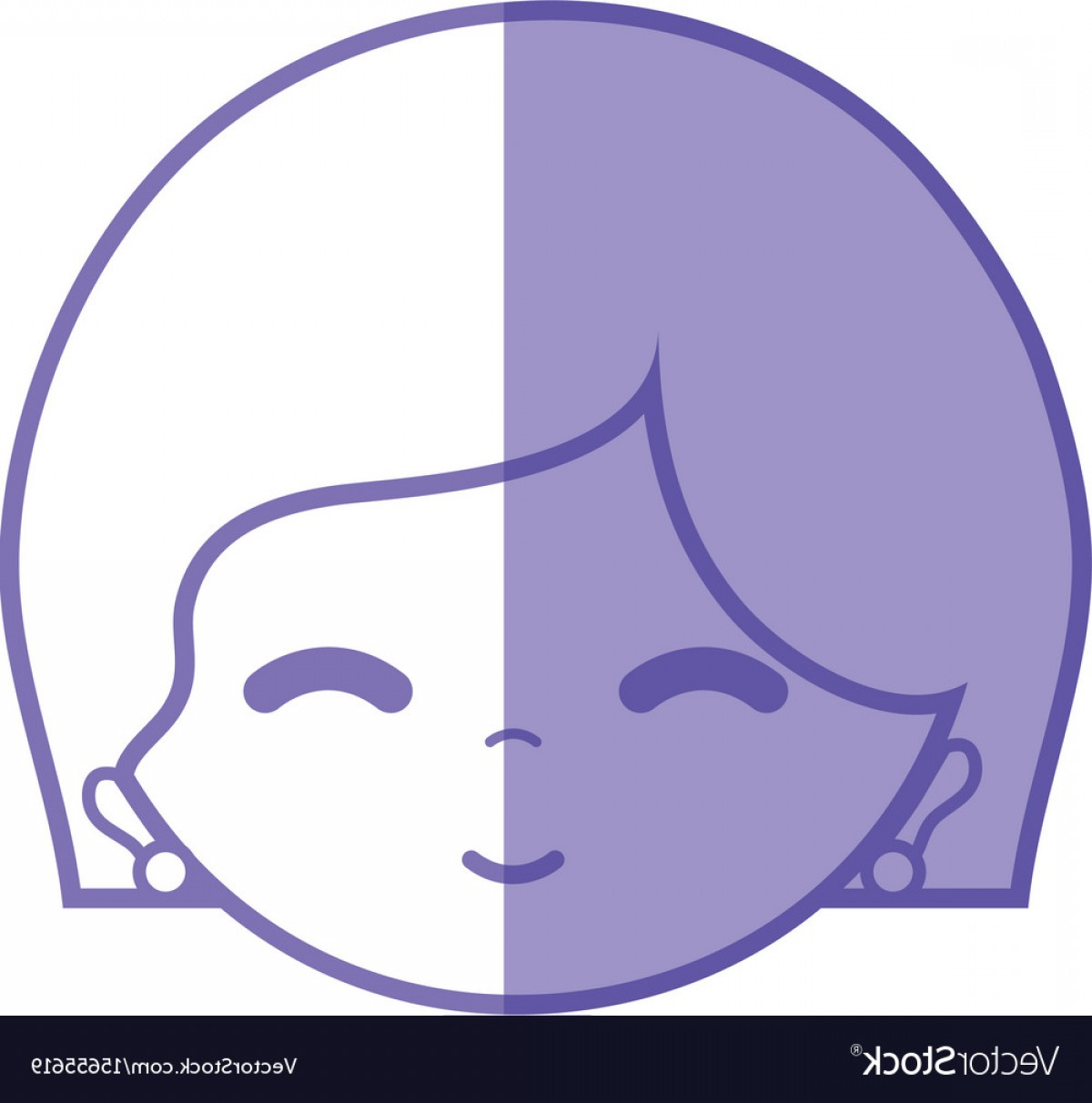 Woman Silhouette Vector Face Expression: Silhouette Woman Face With Expression And Vector