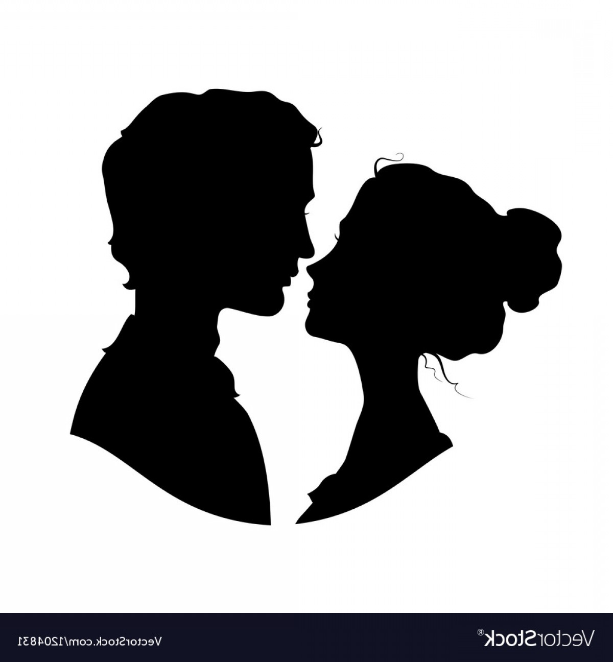 Vector Silhouette Love: Silhouettes Of Loving Couple Vector