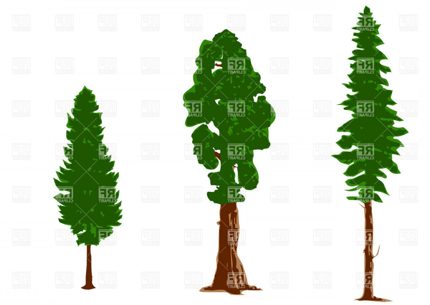 Tree Silhouette Vector Clip Art: Silhouettes Of Pine Trees Vector Clipart
