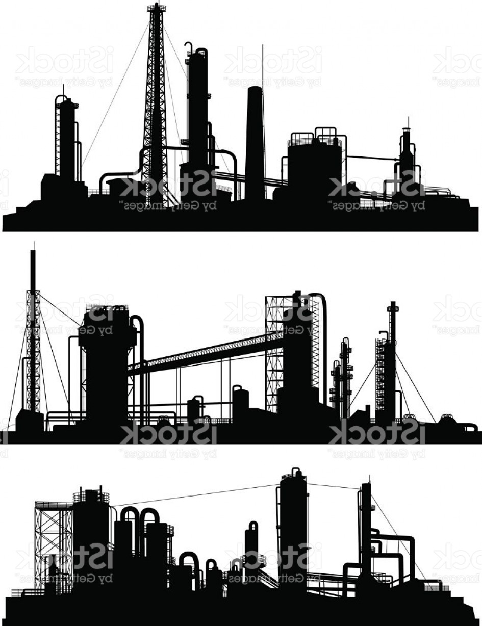 Industrial Vector Art: Silhouettes Of Units For Industrial Zone Gm