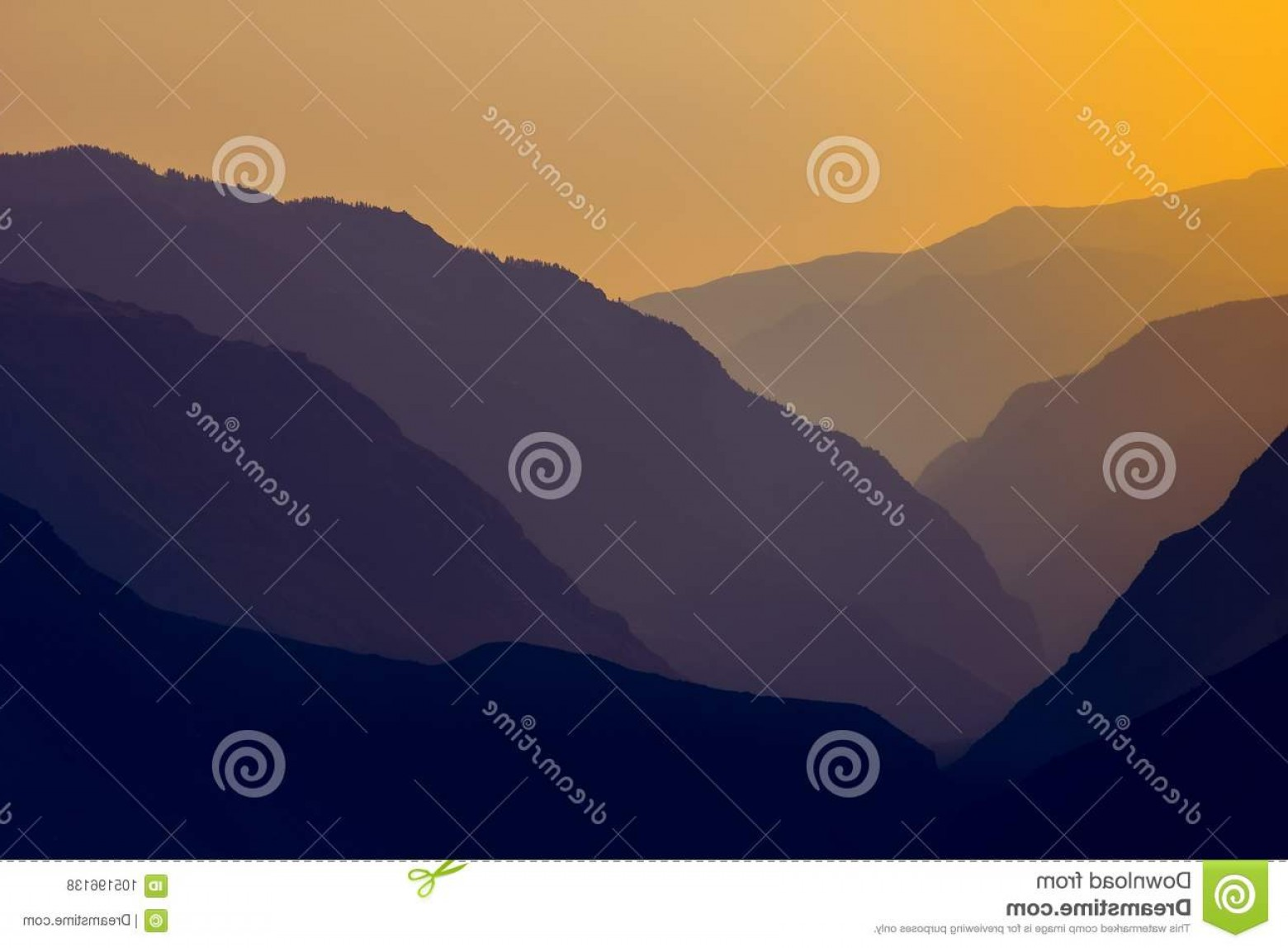 Setting Sun Vector Outline: Silhouettes Outlines Mountain Massif Setting Sun Silhouettes Outlines Mountain Massif Setting Sun Image