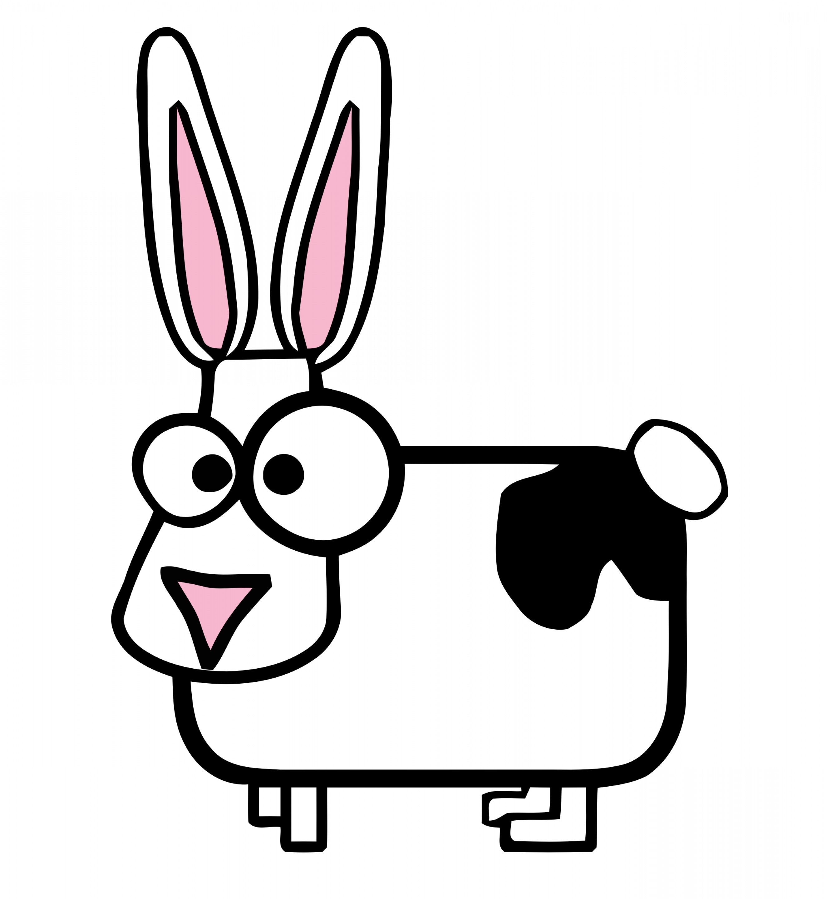 Image Vector Clip Art Bunny Bunny: Silly Cartoon Cow Bunny Vector Clipart