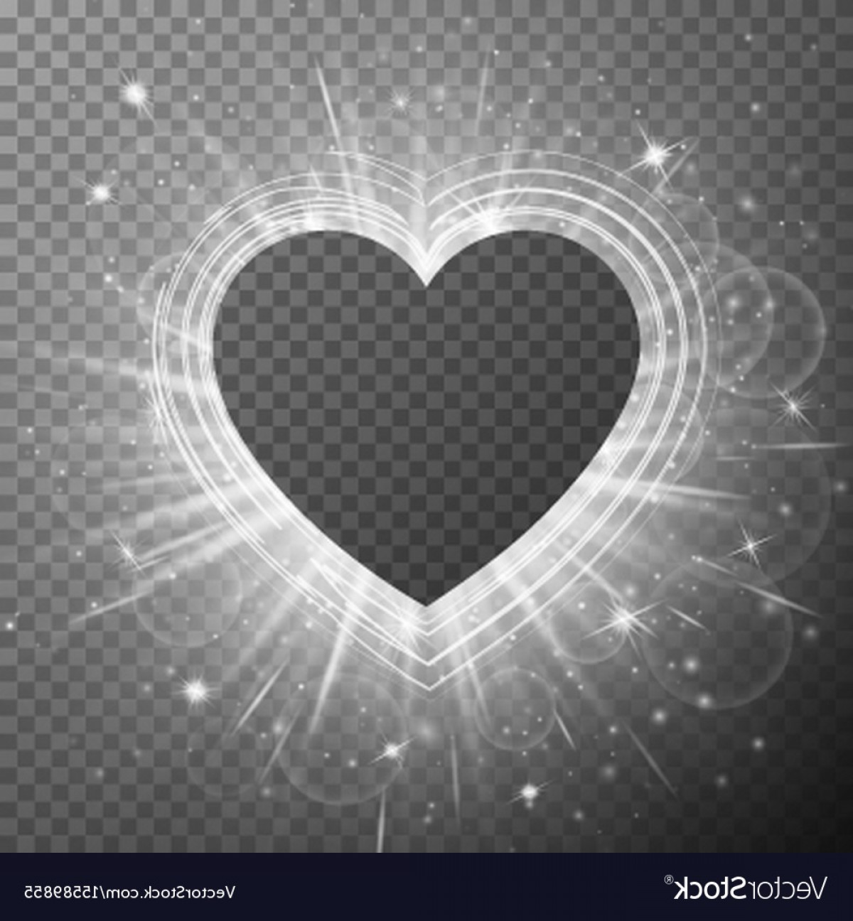 Silver Heart Vector: Silver Background With Hearts Vector