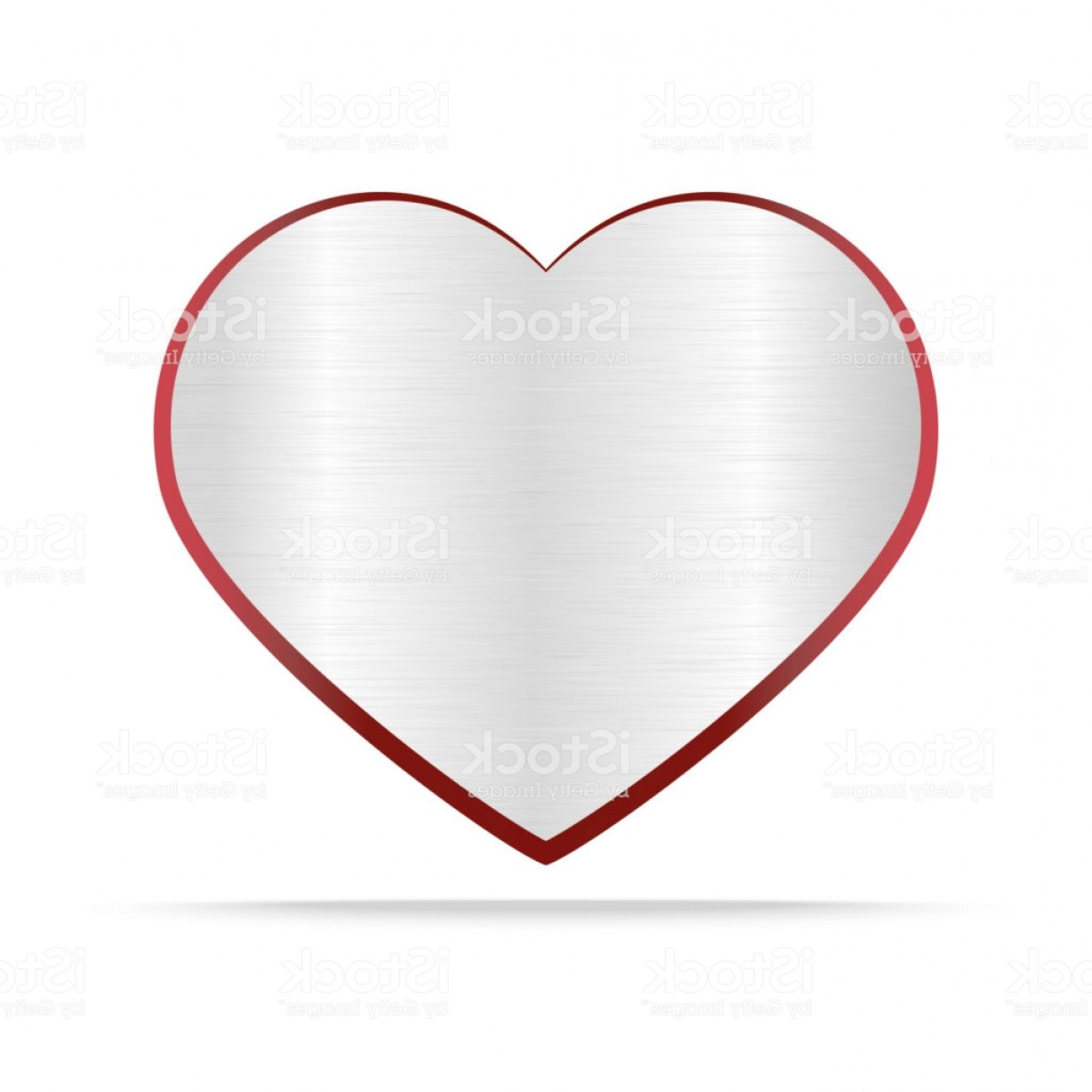 Silver Heart Vector: Silver Heart On White Background Gm