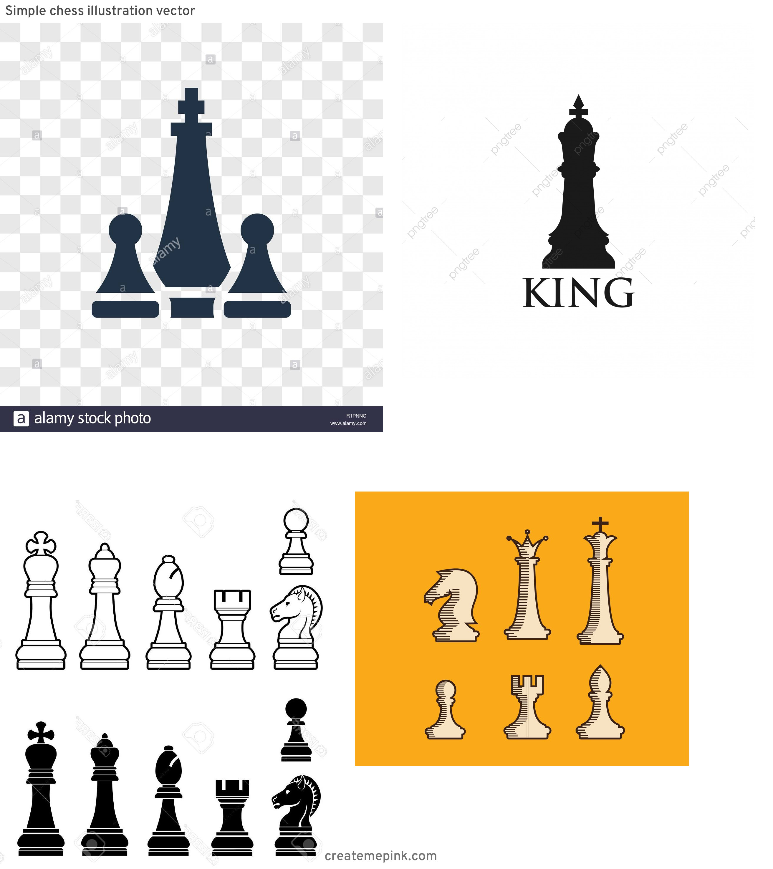 Chess Vector Graphic: Simple Chess Illustration Vector
