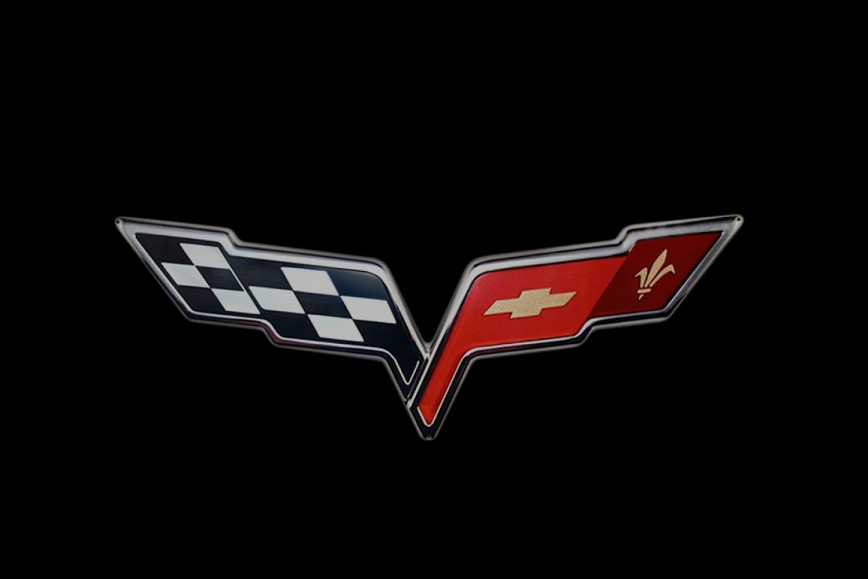 C7 Corvette Logo Vector: Simple Evolution Of The Corvette And The Crossed Flags Logo Ar