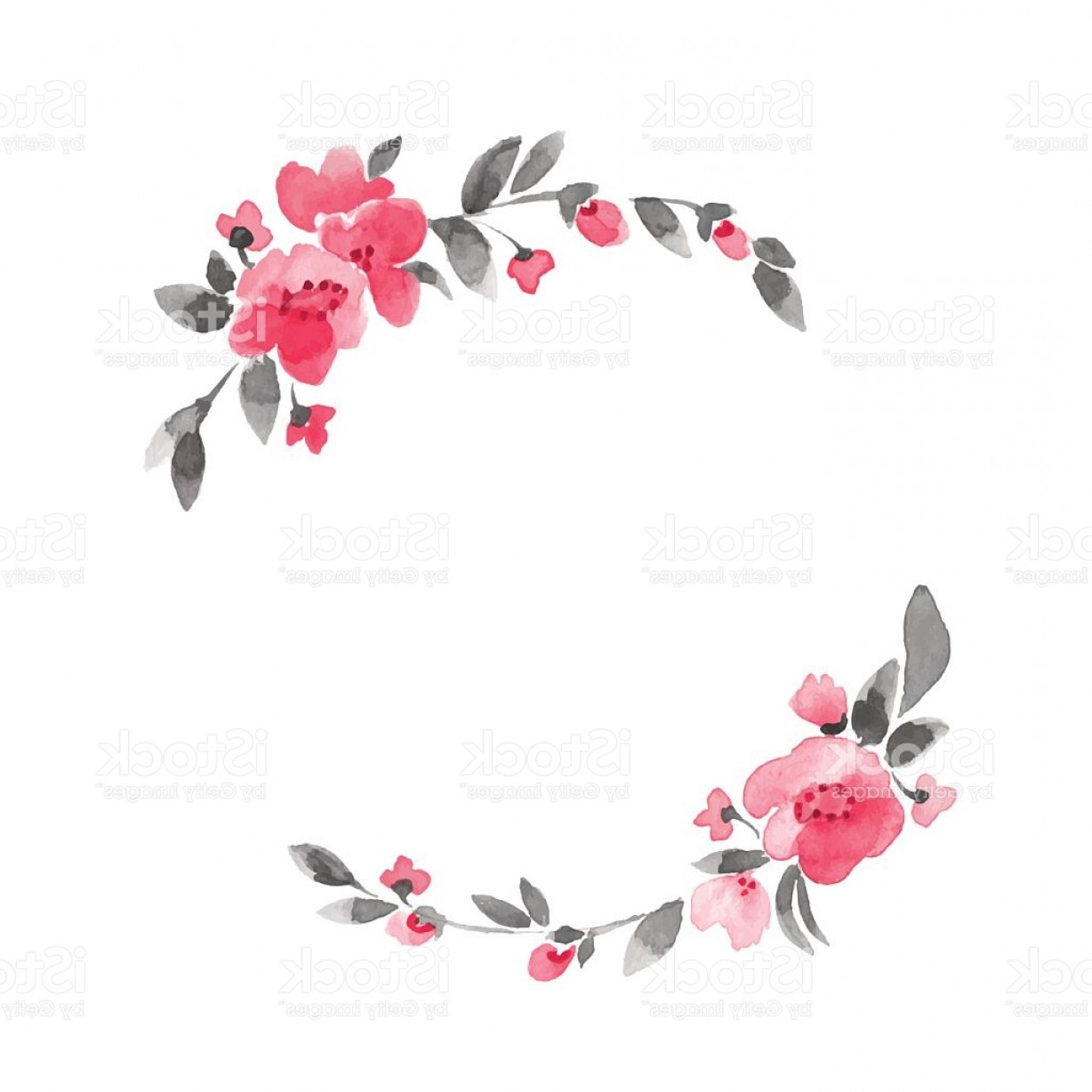 simple floral wreath watercolor flowers in vector gm flower vector art psd flower vector art png