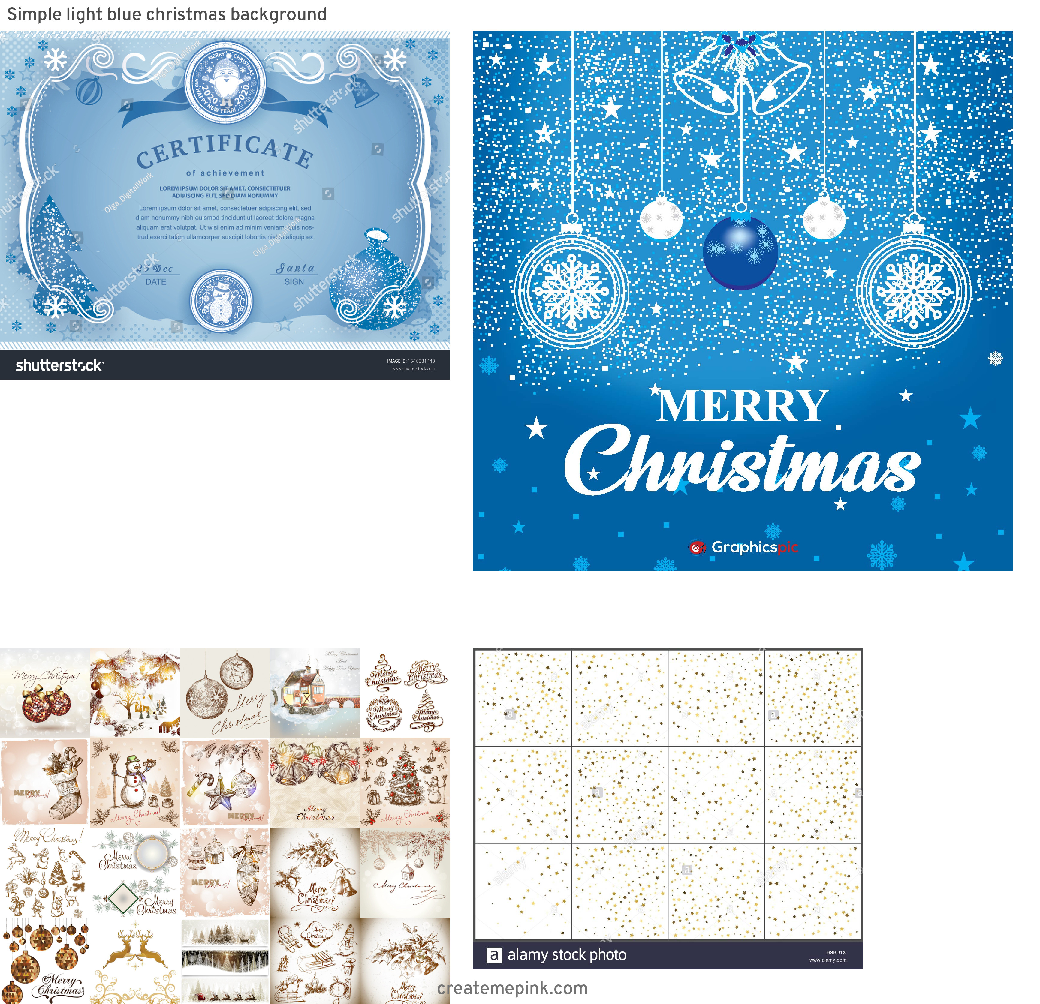 Professional Christmas Backgrounds Vector: Simple Light Blue Christmas Background