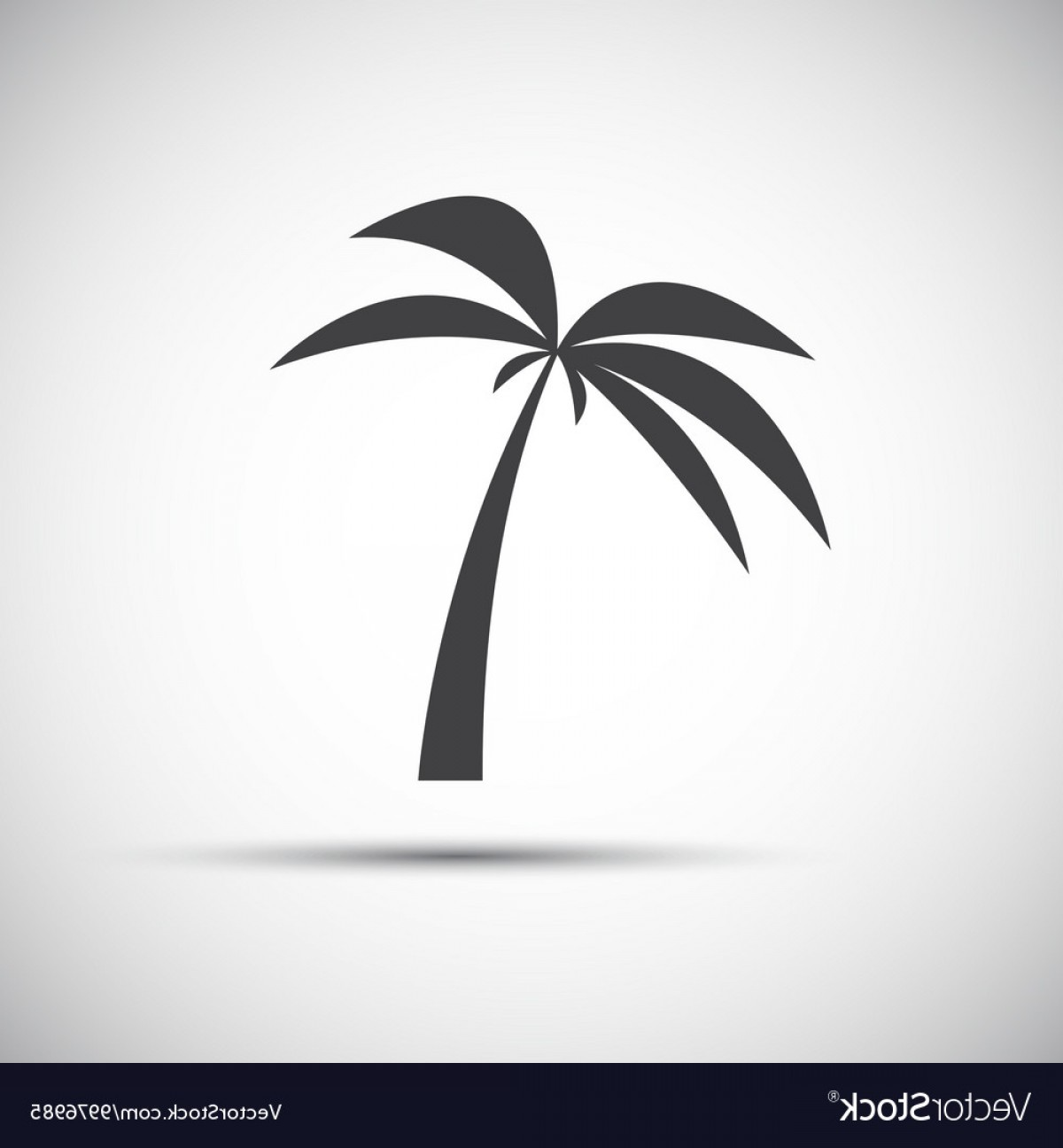 Simple Palm Tree Vector: Simple Of A Palm Tree Vector