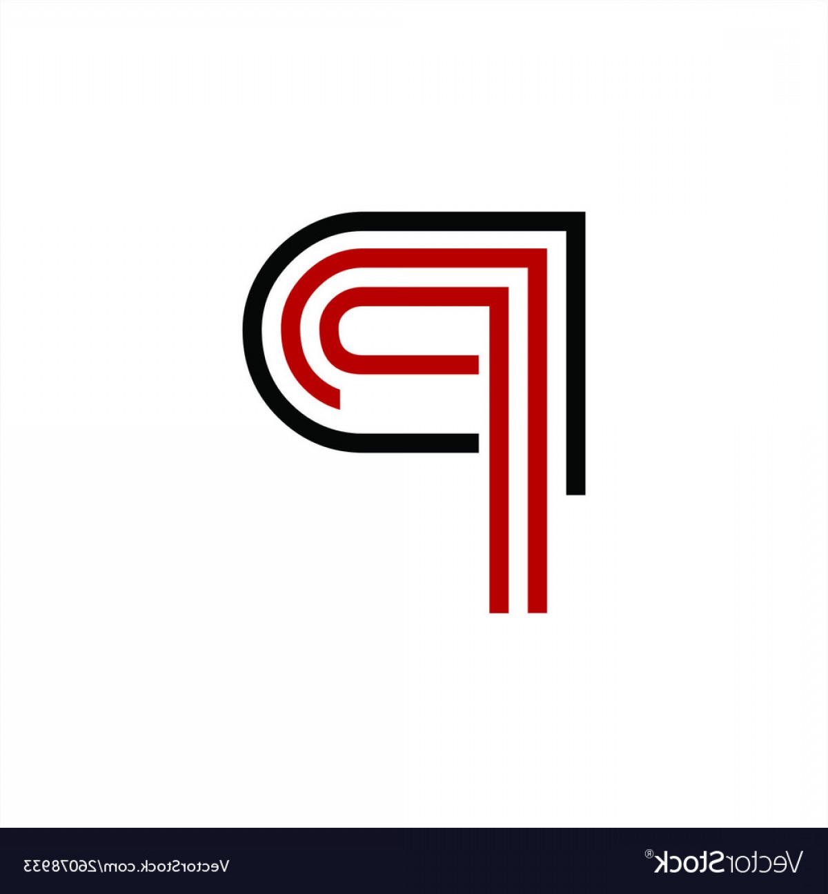 BBB Logo In Vector Form: Simple P Dp Pd Ppp Initials Line Art Company Logo Vector