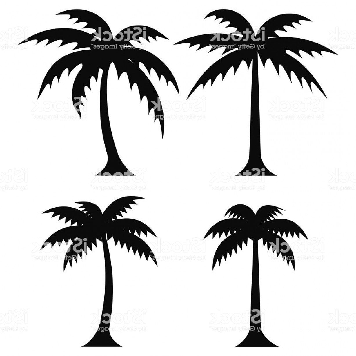 Simple Palm Tree Vector: Simple Palm Trees Vector Gm