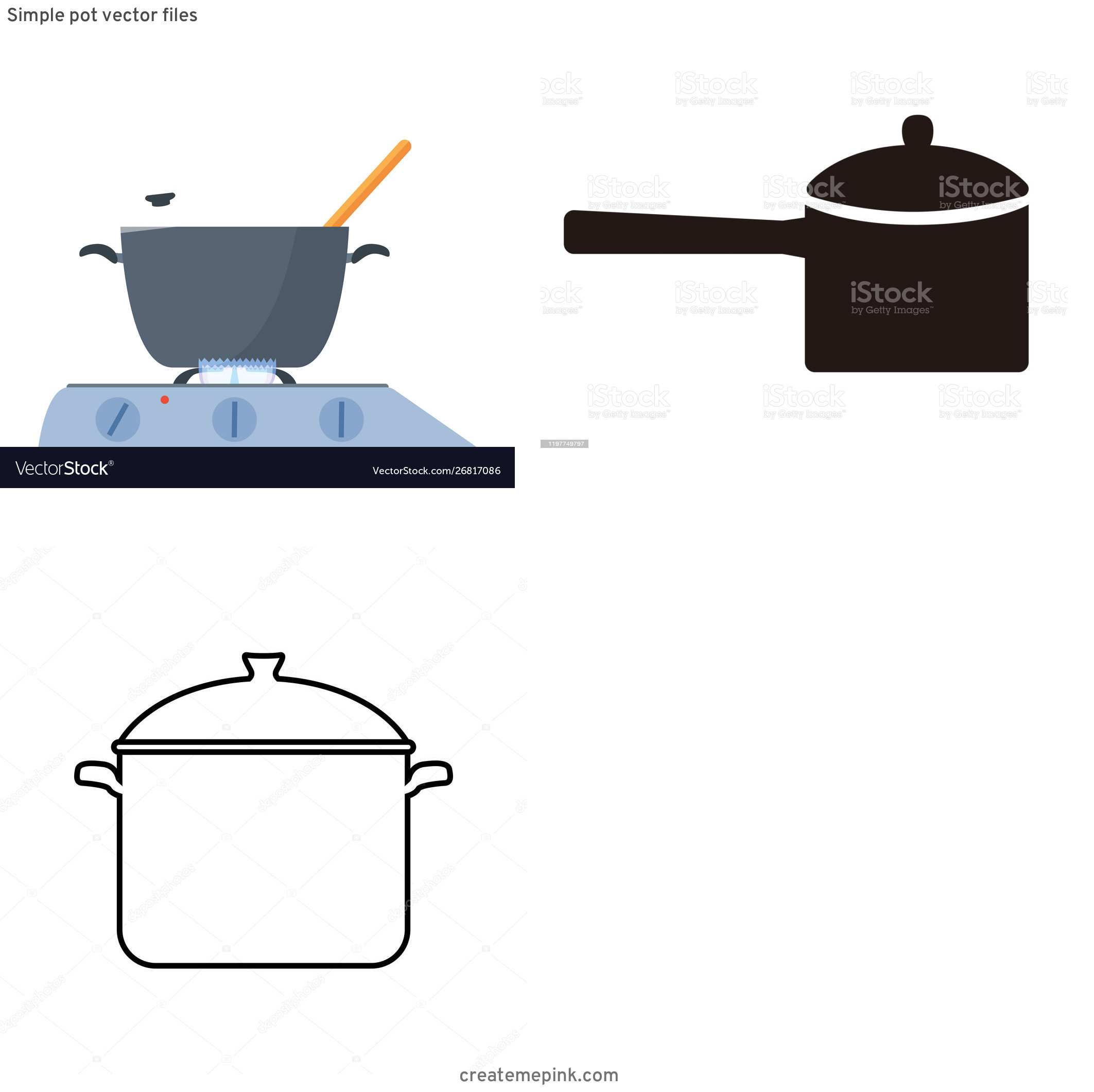 Cook Pot Vector: Simple Pot Vector Files