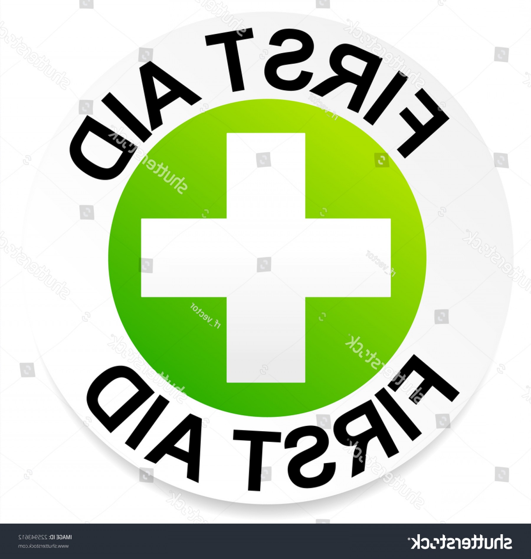 Vector Straightforward: Simple Straightforward First Aid Badge