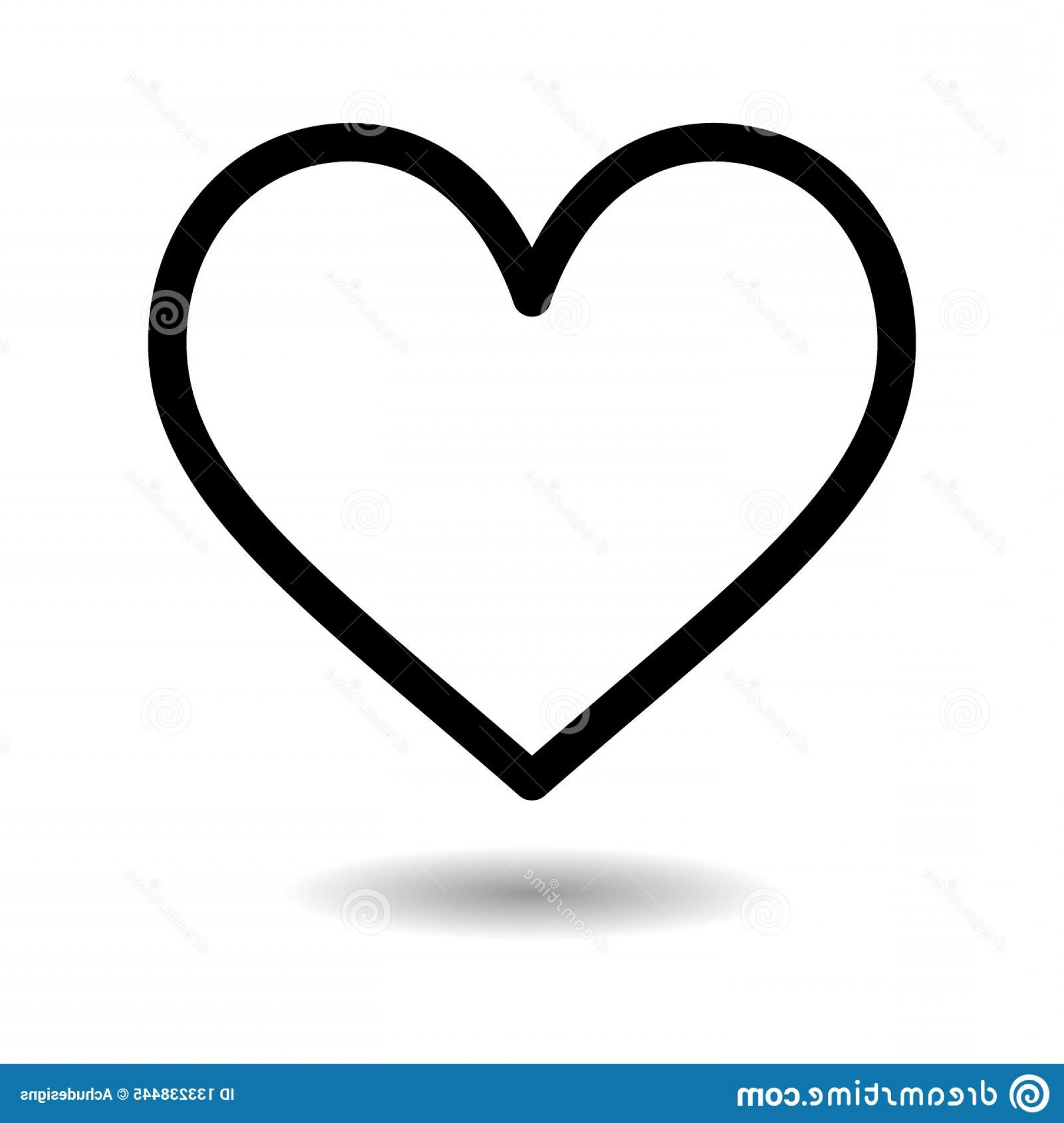 In Icon Stock Vector: Simple Vector Filled Flat Heart Icon Solid Pictogram Isolated White Background Love Valentines Day Symbol Heart Icon Image