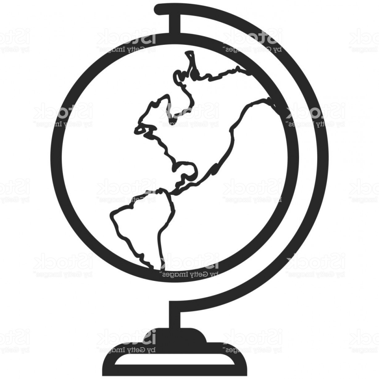 World Icon Vector Simple: Simple Vector Icon Of A Classic School Globe In Line Art Style Pixel Perfect Basic Gm