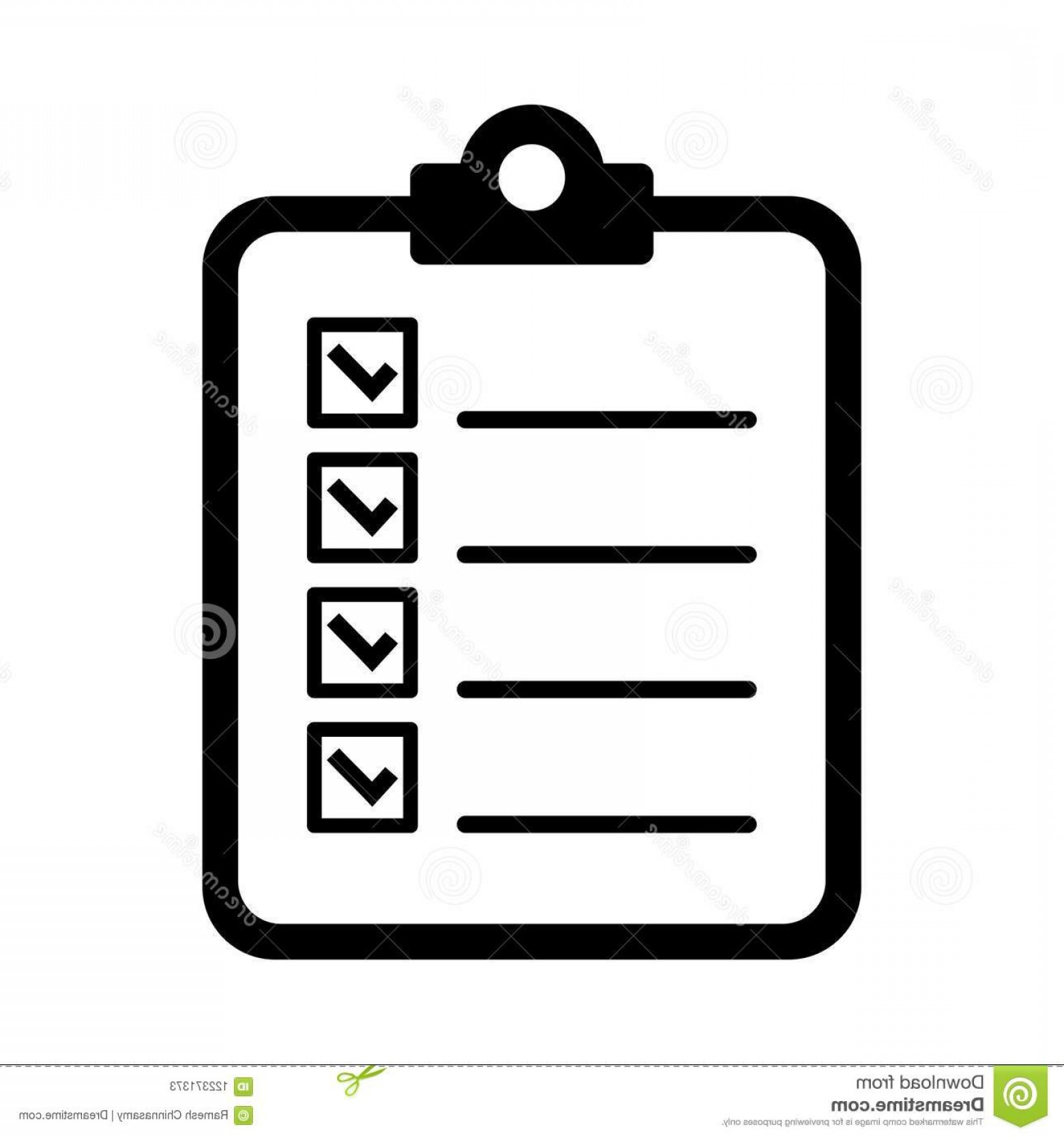 In Icon Stock Vector: Simple Vector Illustration To Do List Icon White Background To Do List Icon Image