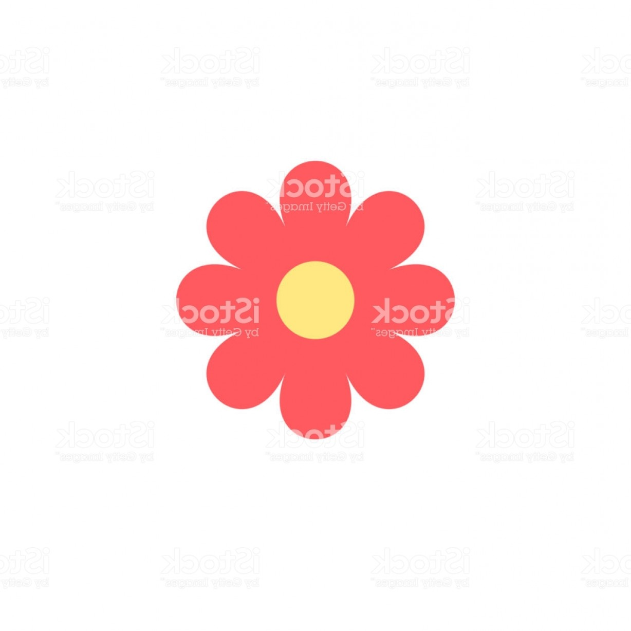 Simple Vector Daisy: Simple Vector Of A Pink And Yellow Daisy Gm
