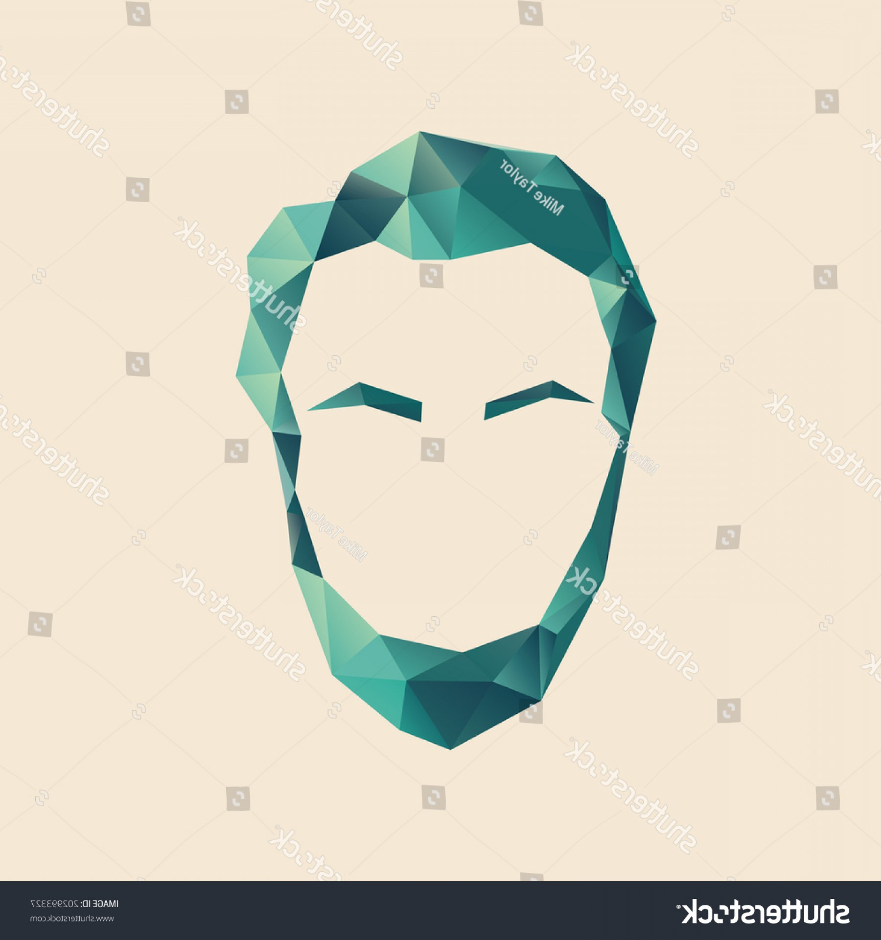 Blue Tigers Lincoln Logo Vector Image: Simple Vector Symbol Abraham Lincoln Polygonal