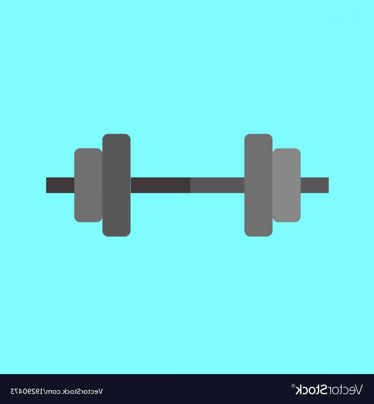 Weight Lifting Vector Graphics: Simple Weightlifting Barbell Graphic Vector
