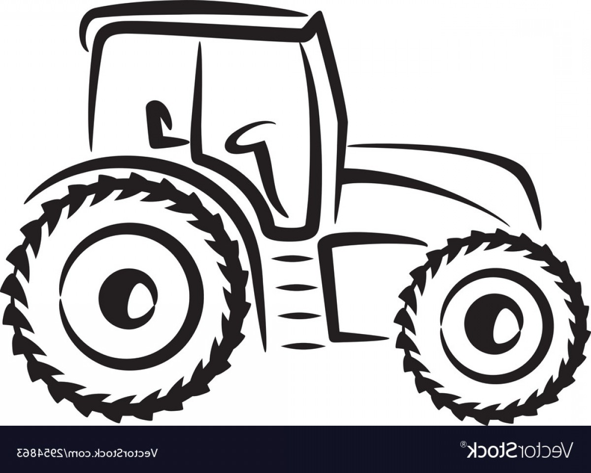 Free Tractor Vector: Simple With A Tractor Vector
