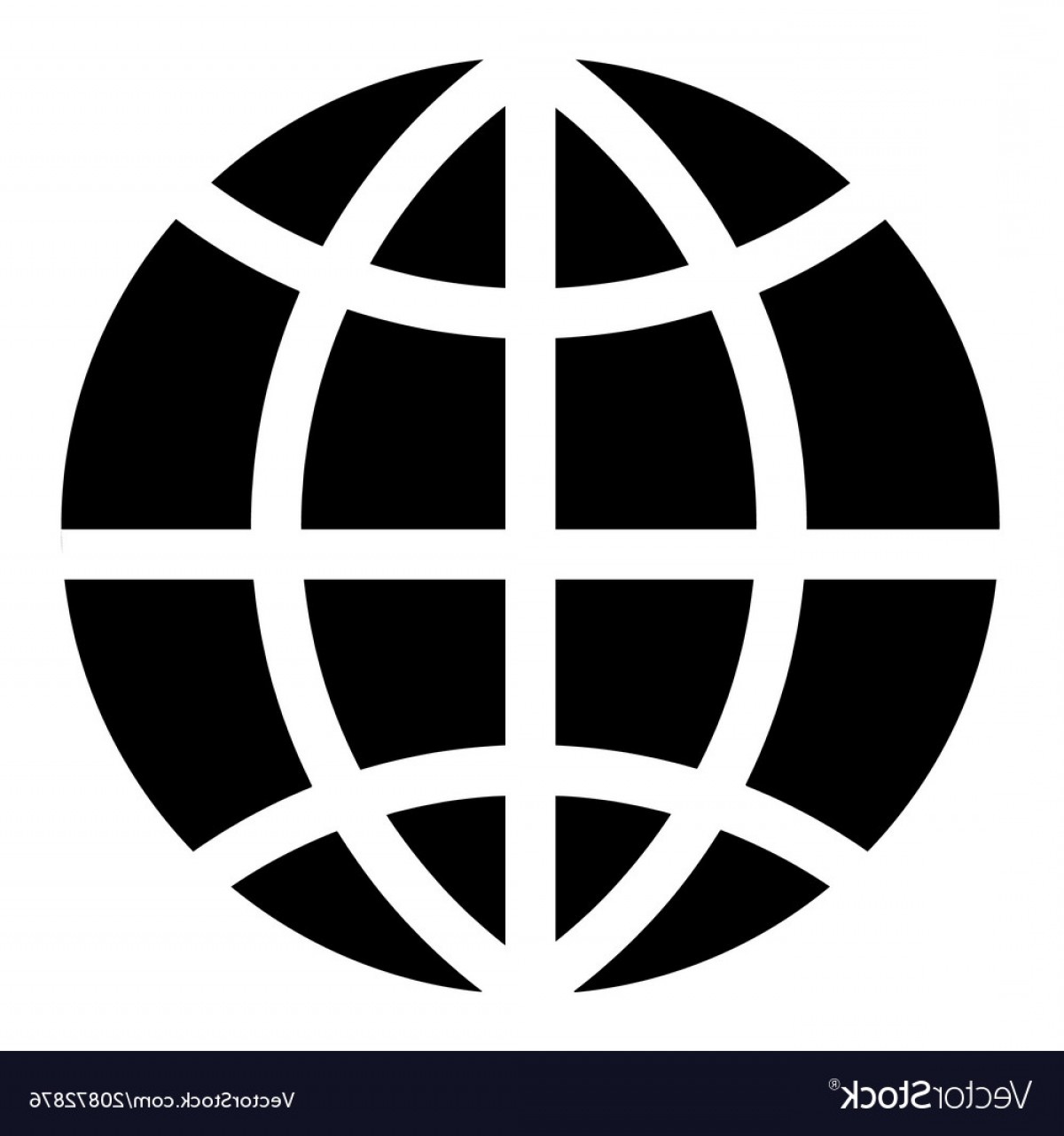 World Icon Vector Simple: Simple World Globe Icon Vector