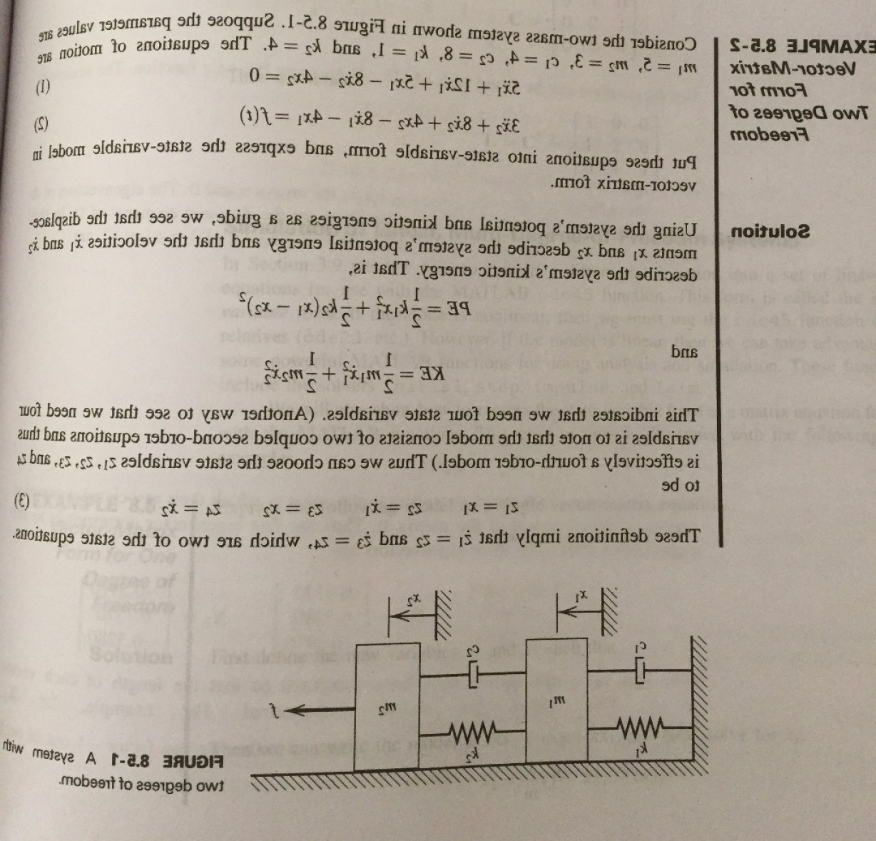 Simulink Vector: Simulink Modeling Two Mass System Reference Section Textbook Consider System Discu Q