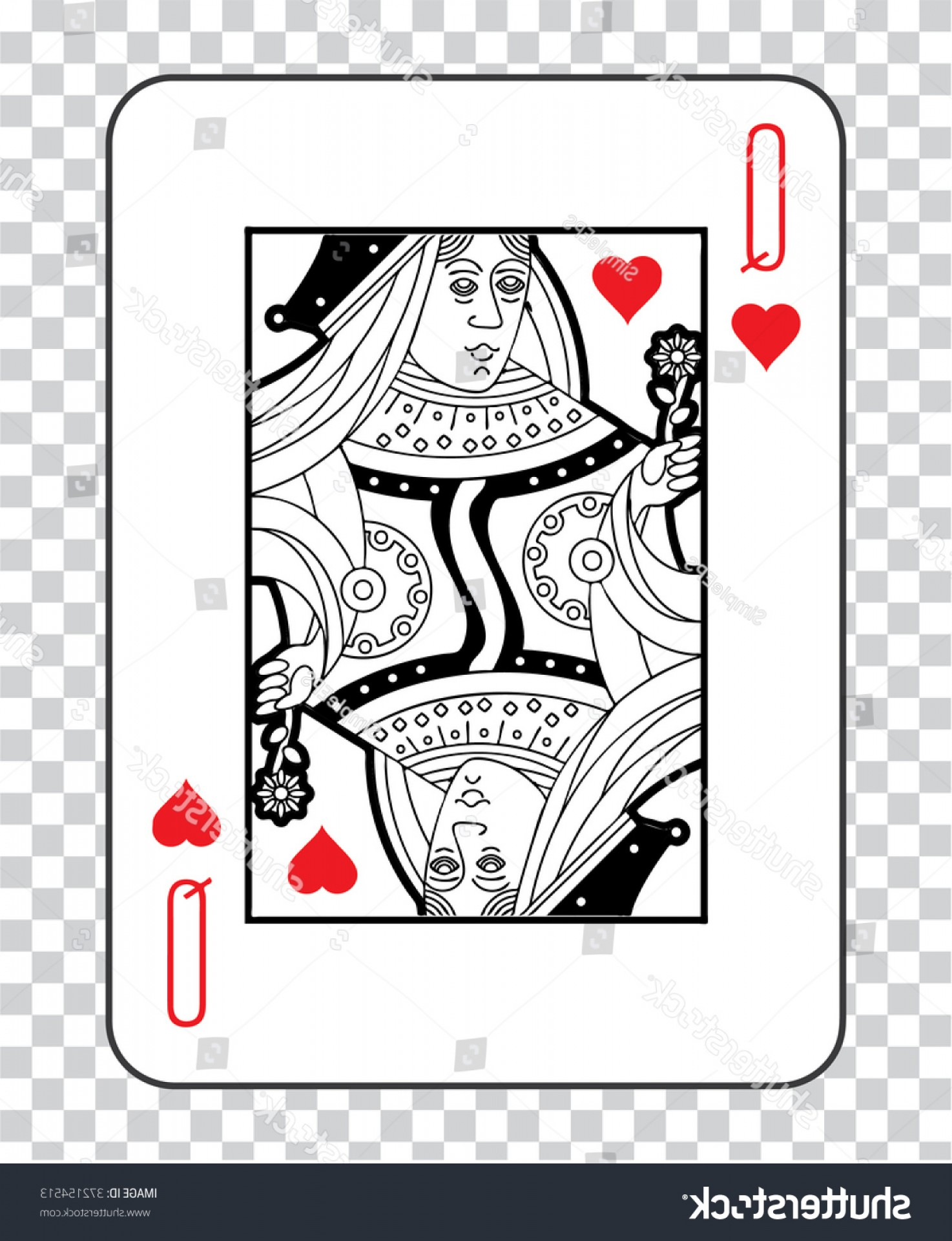 Single Playing Card Vector: Single Playing Cards Transparent Background Poker