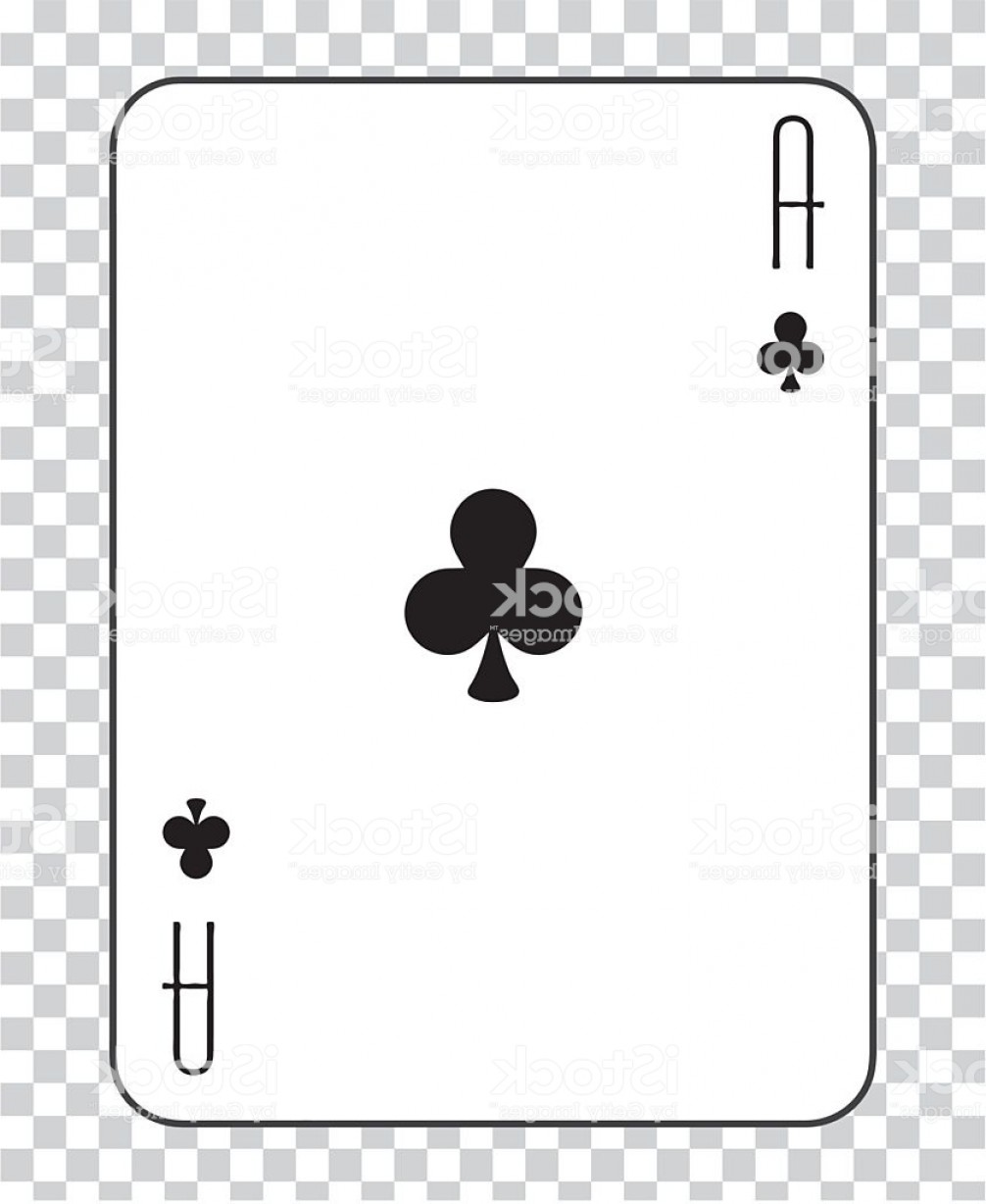 Single Playing Card Vector: Single Playing Cards Vector Ace Clubs Gm