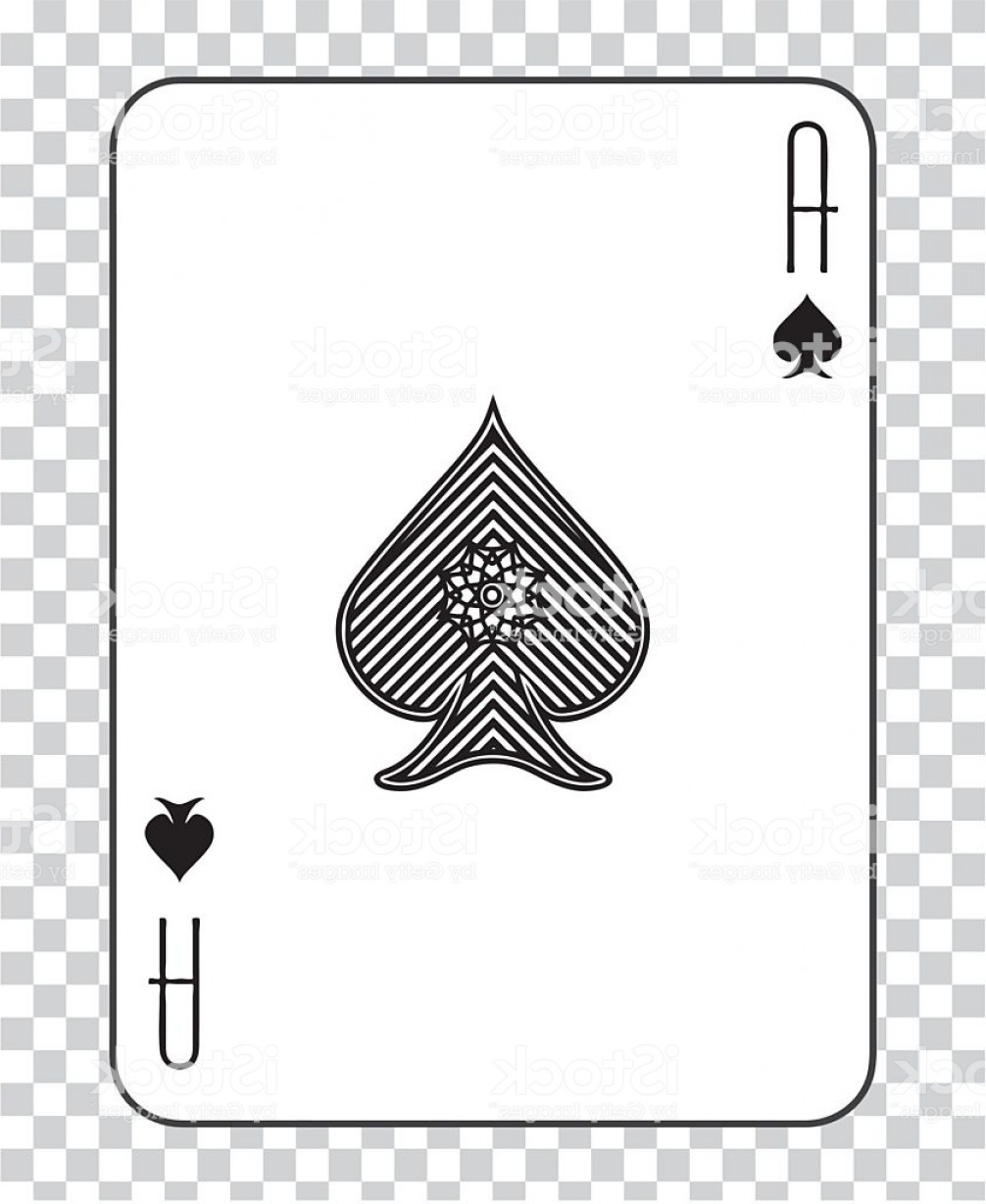 Spades Vector Art: Single Playing Cards Vector Ace Spades Gm