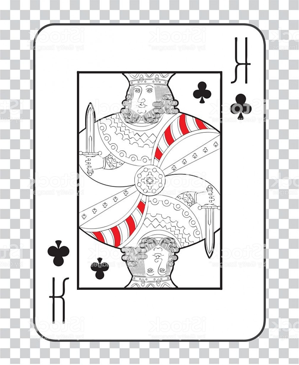 Single Playing Card Vector: Single Playing Cards Vector King Clubs Gm