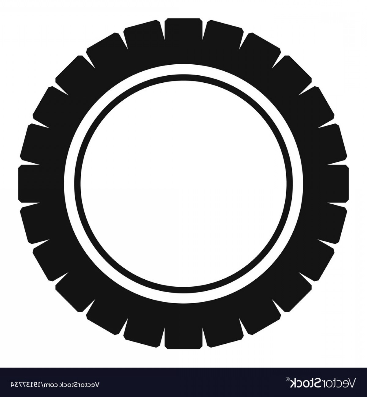 Tire Icon Vector: Single Tire Icon Simple Style Vector