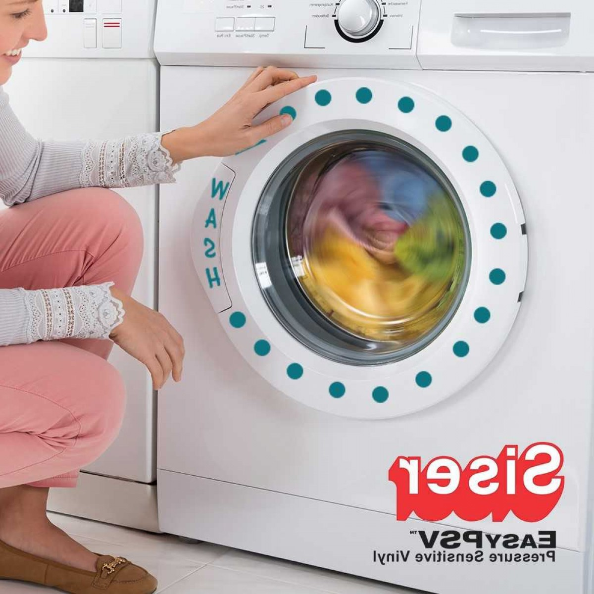 Washer Machine Vector Decal: Siser Easy Psv Removable Pressure Sensitive Vinyl Inch By The Yard