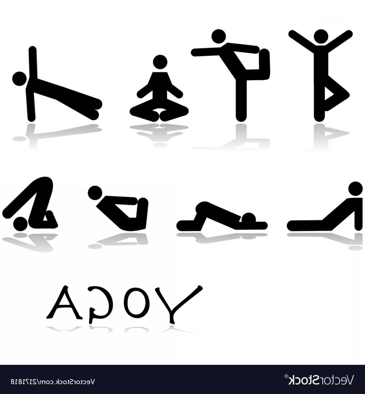 Vector Stick Figure Yoga Positions: Sitting Pose Stick Figure Yoga Vectors