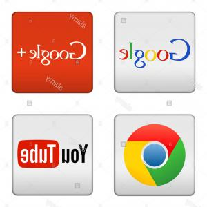 Google Chrome Icon Vector: Sign In With Google Icon