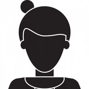 Black Afro Woman Vector: African American Woman Face Profile Vector
