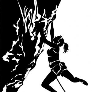 Climbing Silhouette Vector Art: Best Mountain Climbing Vector File Free